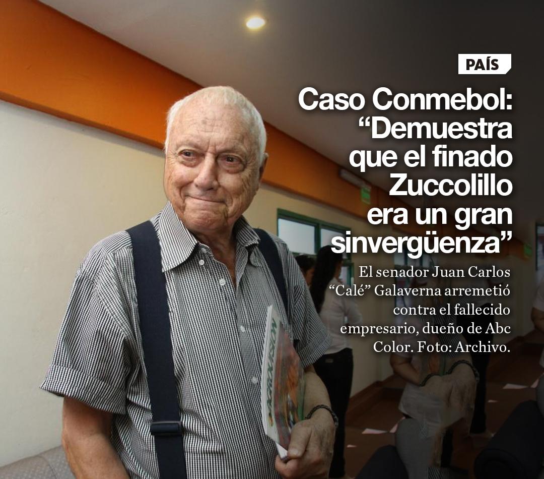 """Caso Conmebol: """"Demuestra que el finado Zuccolillo era un gran sinvergüenza"""""""