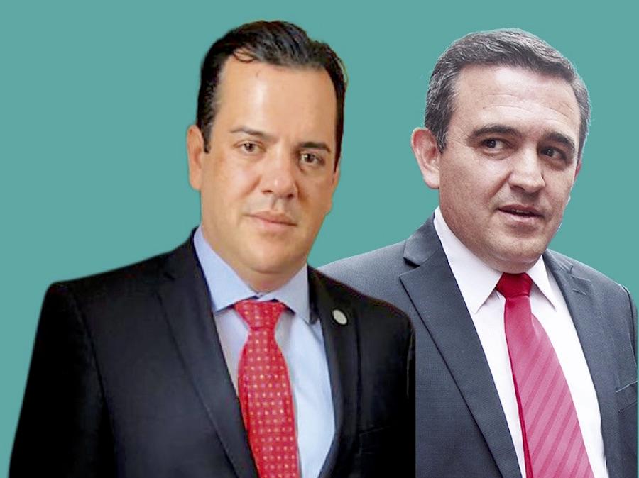 Rodolfo Friedmann, ministro del MAG. Eduardo Petta, ministro de Educación.