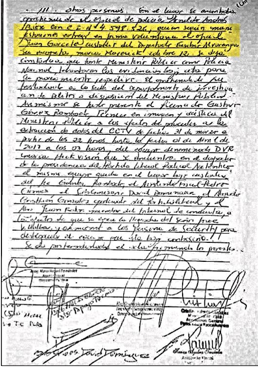 DECLARACIÓN. Arnaldo Báez admitió ante la Fiscalía que entregó su escopeta al custodio del diputado Eusebio Alvarenga.