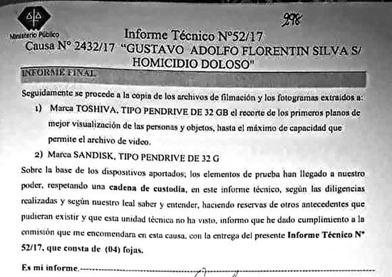 DUDA. El informe de Gustavo Gómez Rambado, lo que dice del peritaje que realizó de las cámaras del PLRA, no es tan claro en sus afirmaciones.