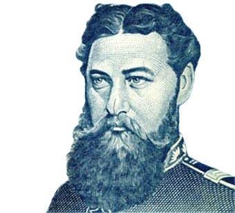 Gral. Bernardino Caballero, fundador de la ANR. Foto: Gentileza.