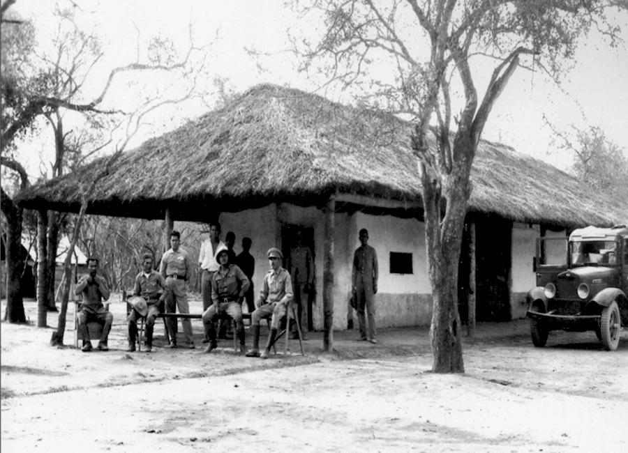 Un momento de descanso en un campamento paraguayo, en un lugar no determinado. Foto: Archivo