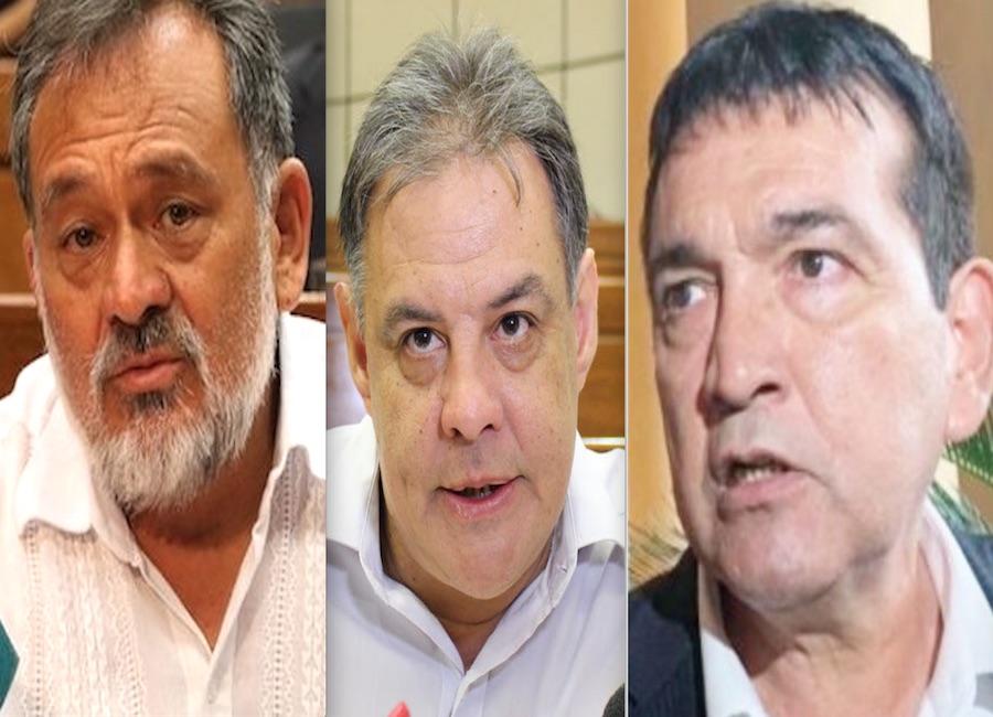 Los senadores del Frente Guasu Sixto Pereira y Hugo Richer así como el parlamentario del Partido Democrático Progresista (PDP), Pedro Santacruz, denunciados por los productores. Foto: Archivo
