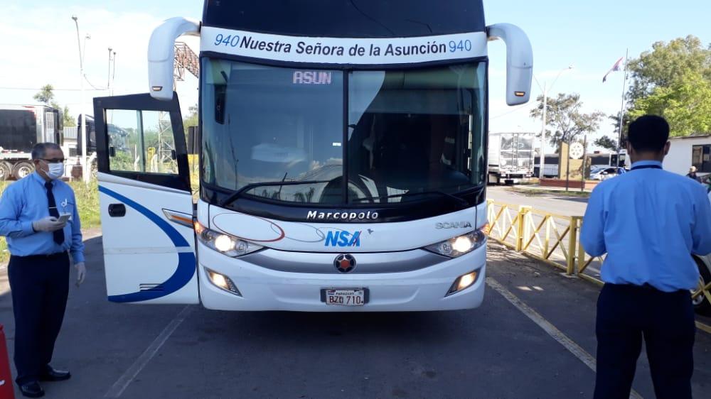 Los connacionales provenientes de Argentina ingresaron al país en 2 grupos. Foto: Gentileza.