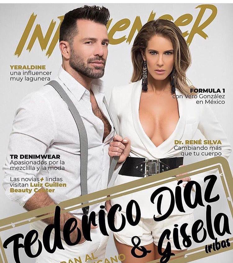 """Gisela Iribas, junto con el actor y productor Federico Díaz en un montaje fotográfico para el reality show """"Palm House"""". Foto: Gentileza."""