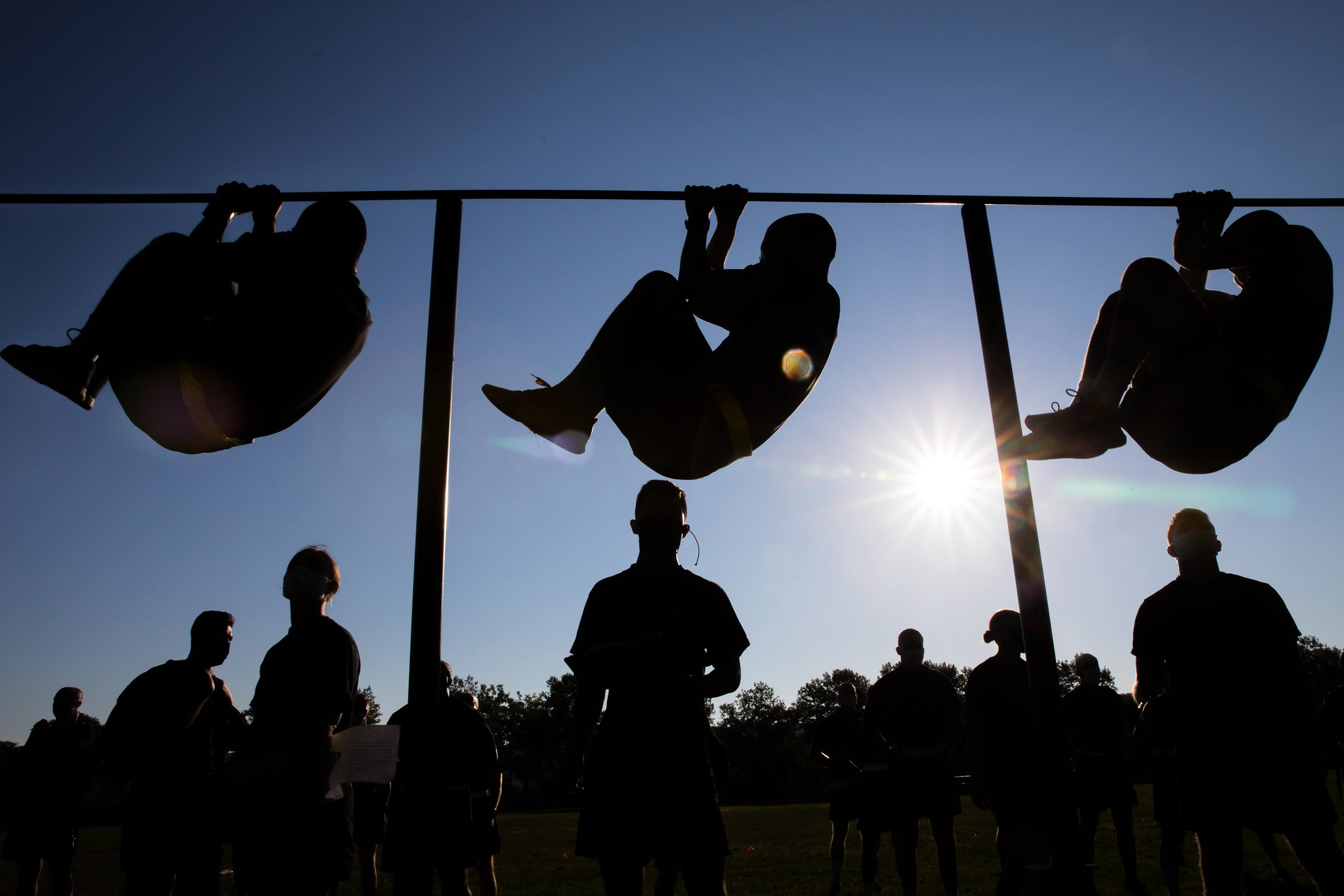 New cadets practice physical training and the Army Combat Fitness Test at West Point, N.Y., July 14, 2020. (Michelle Eberhart/Army)