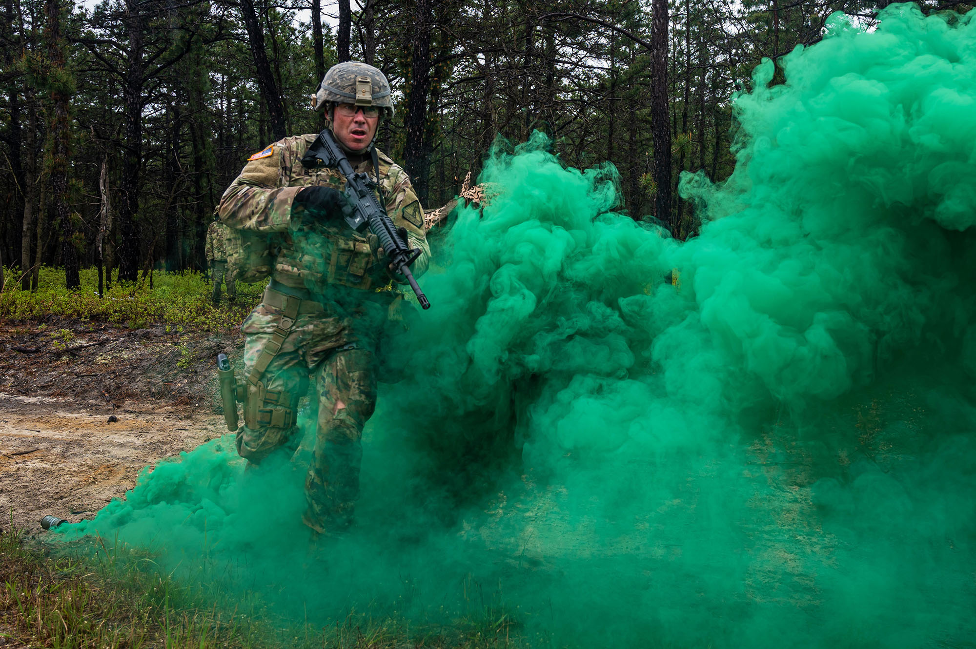 U.S. Army Staff Sgt. Ralph Bird, New Jersey National Guard, competes in the stress shoot event during the Region 1 Best Warrior Competition (BWC) at Joint Base McGuire-Dix-Lakehurst, N.J., May 5, 2021. (Spc. Michael Schwenk/National Guard)