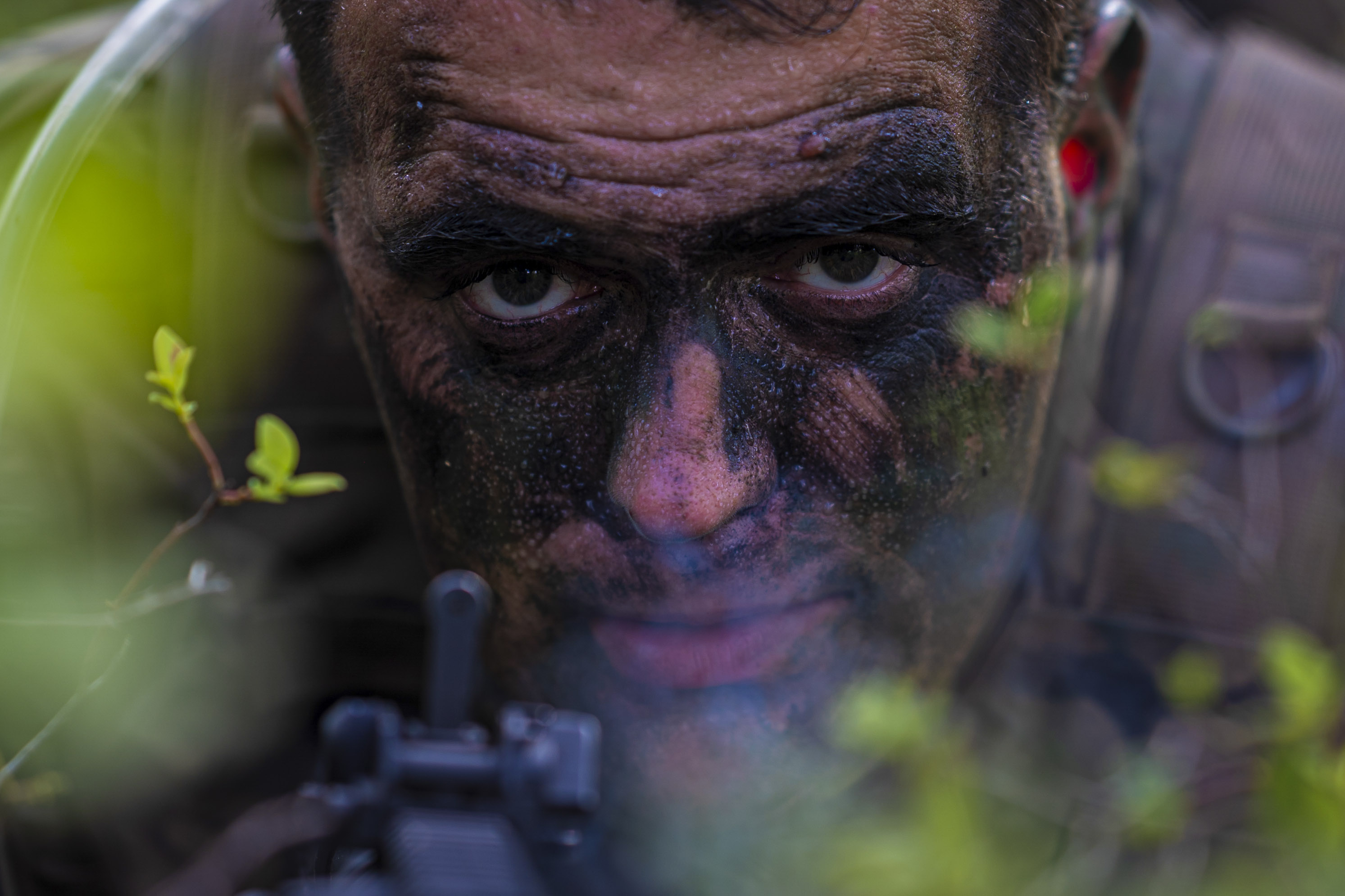 Active-duty, National Guard and Army Reserve soldiers conduct a training exercise during the 1-254th Regional Training Institute's Infantry Advanced Leaders Course on Joint Base McGuire-Dix-Lakehurst, N.J., June 26. (Spc. Michael Schwenk/Army National Guard)