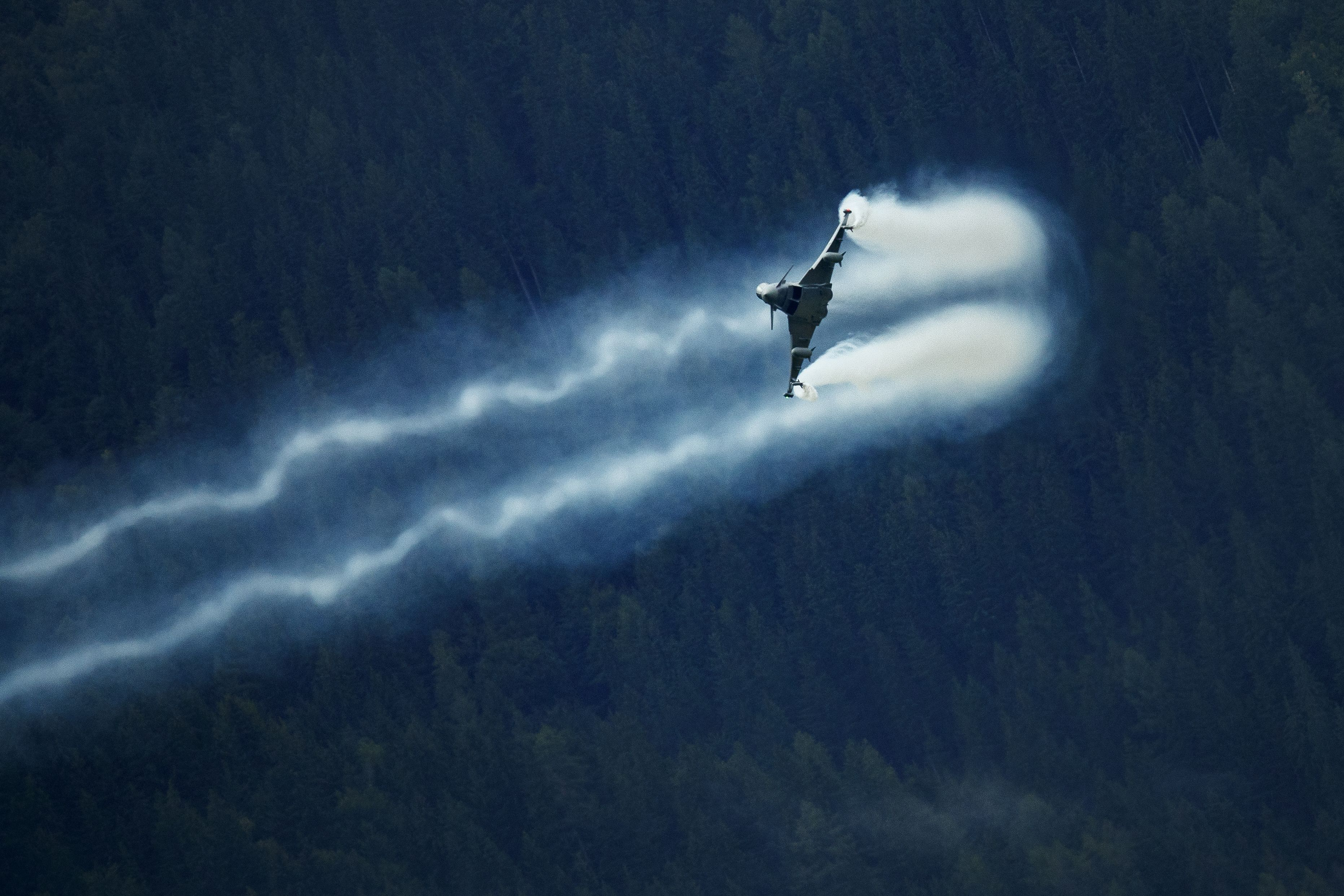 Indonesia wrote to Austria expressing its interest in acquiring the European country's entire fleet of 15 Eurofighter Typhoon fighter jets. Indonesia had been seeking a fighter aircraft to serve alongside its fleet of 23 refurbished early-block Lockheed Martin F-16C/D Fighting Falcon jets. (Erwin Scheriau/AFP via Getty Images)