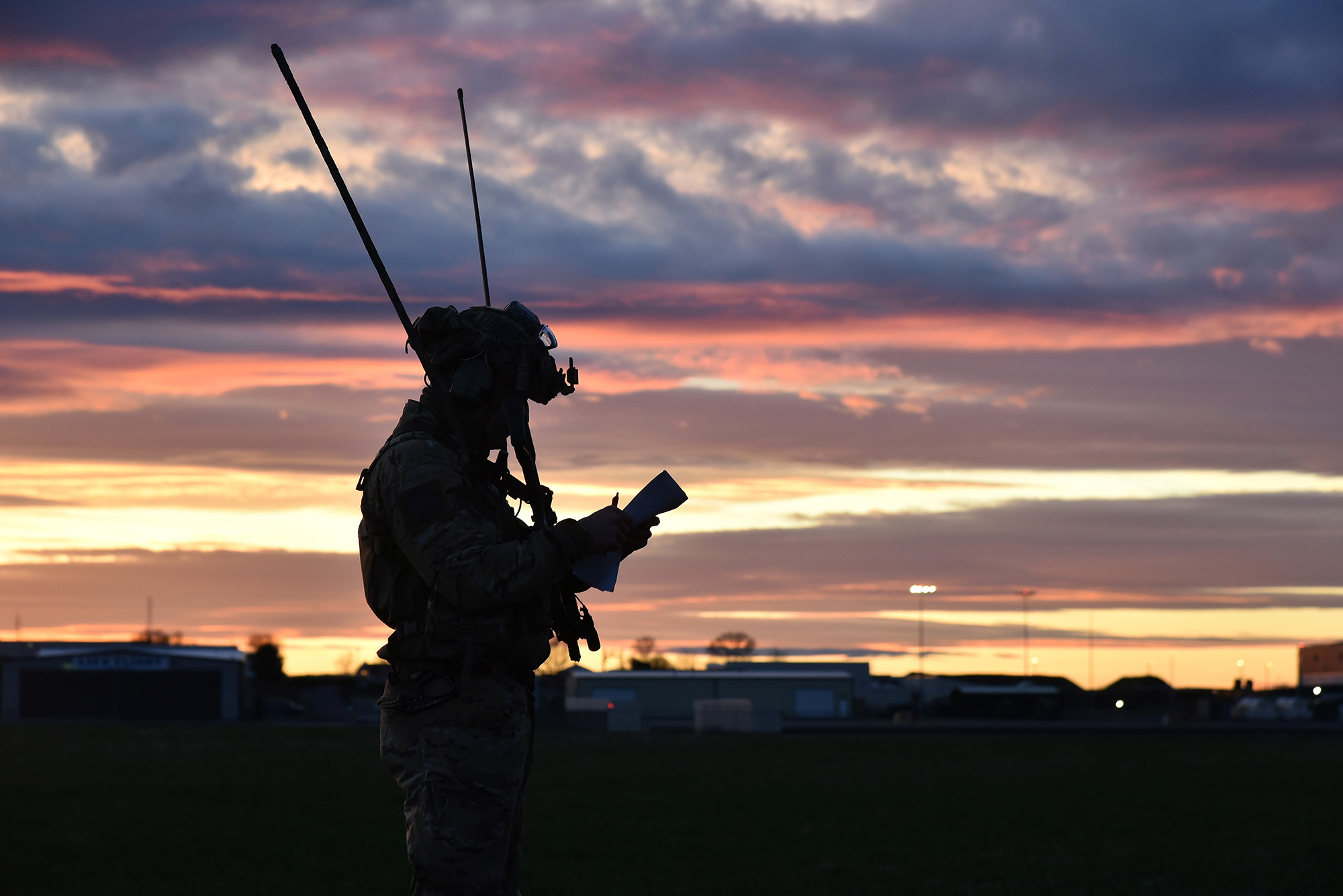 A 125th Special Tactics Squadron operator works on a new form of communication during a full mission profile in Pendleton, Ore., Feb. 4, 2021. (Tech. Sgt. Emily Moon/Air Force)