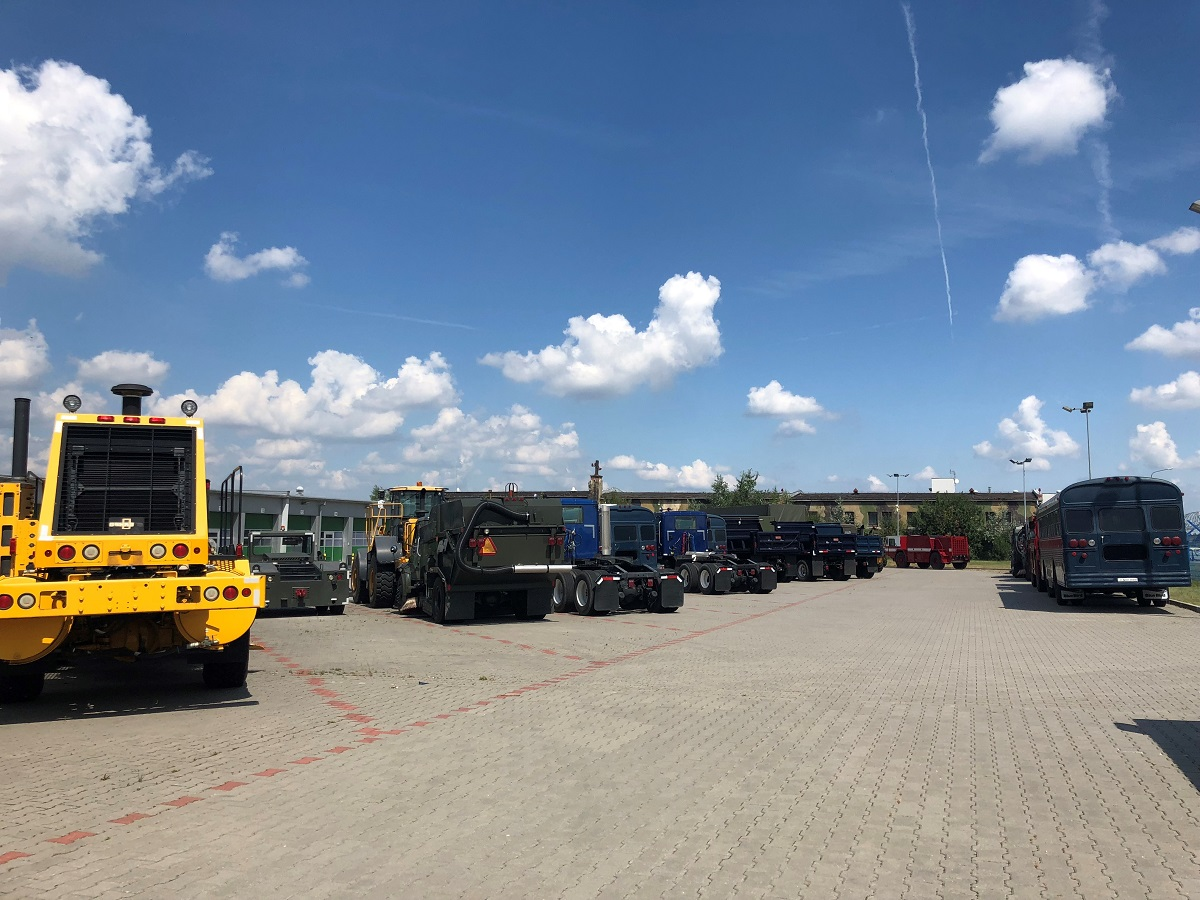 Over the course of the DABS proof of concept, about 60 vehicles and 161 containers worth of equipment were transported from Sanem, Luxembourg, to Krzesiny, Poland, from July 16 to Aug. 1, 2018. (Valerie Insinna/Staff)