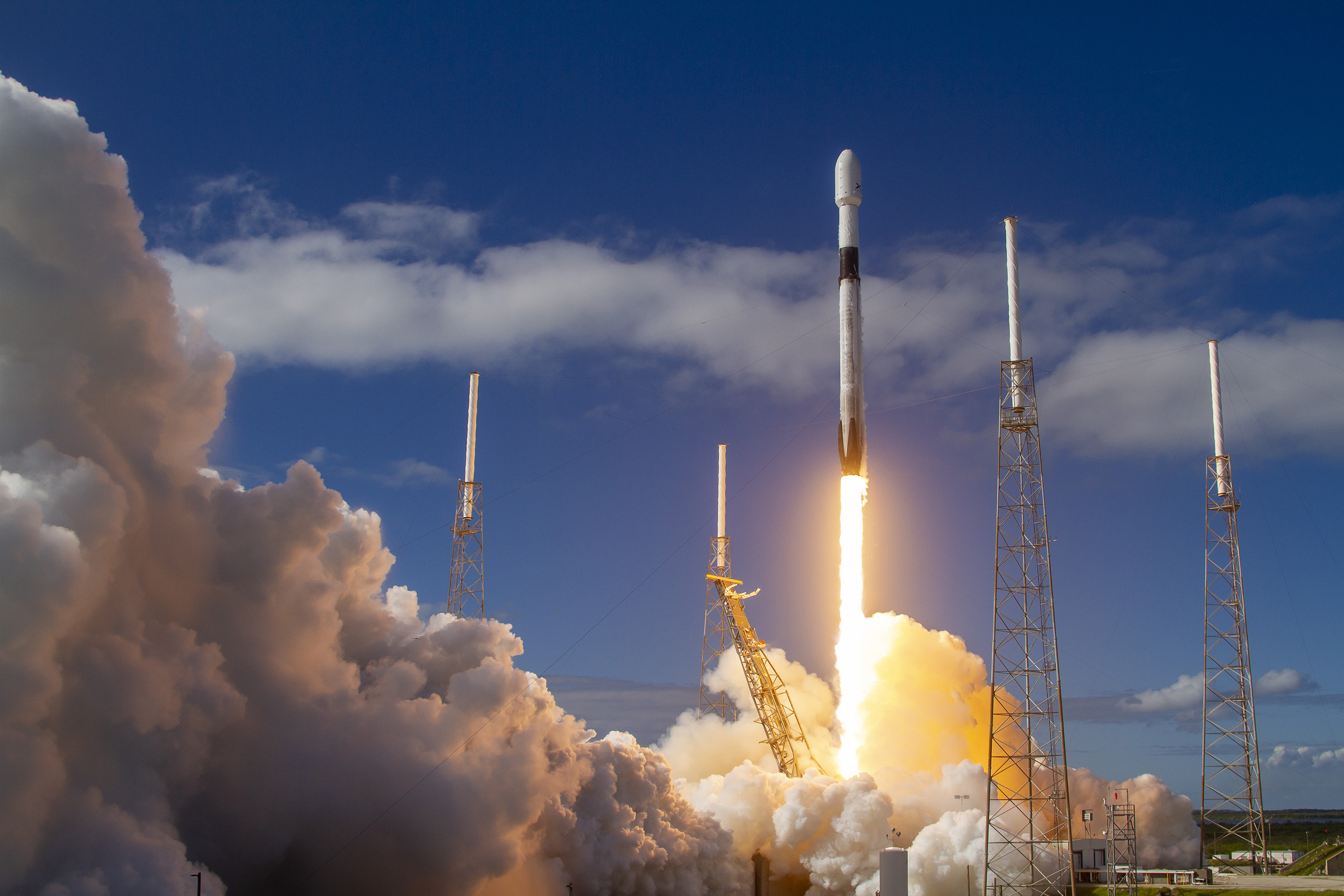 SpaceX launched 60 Starlink satellites from Space Launch Complex 40 at Cape Canaveral Space Force Station, Florida, in November 2019. (SpaceX)