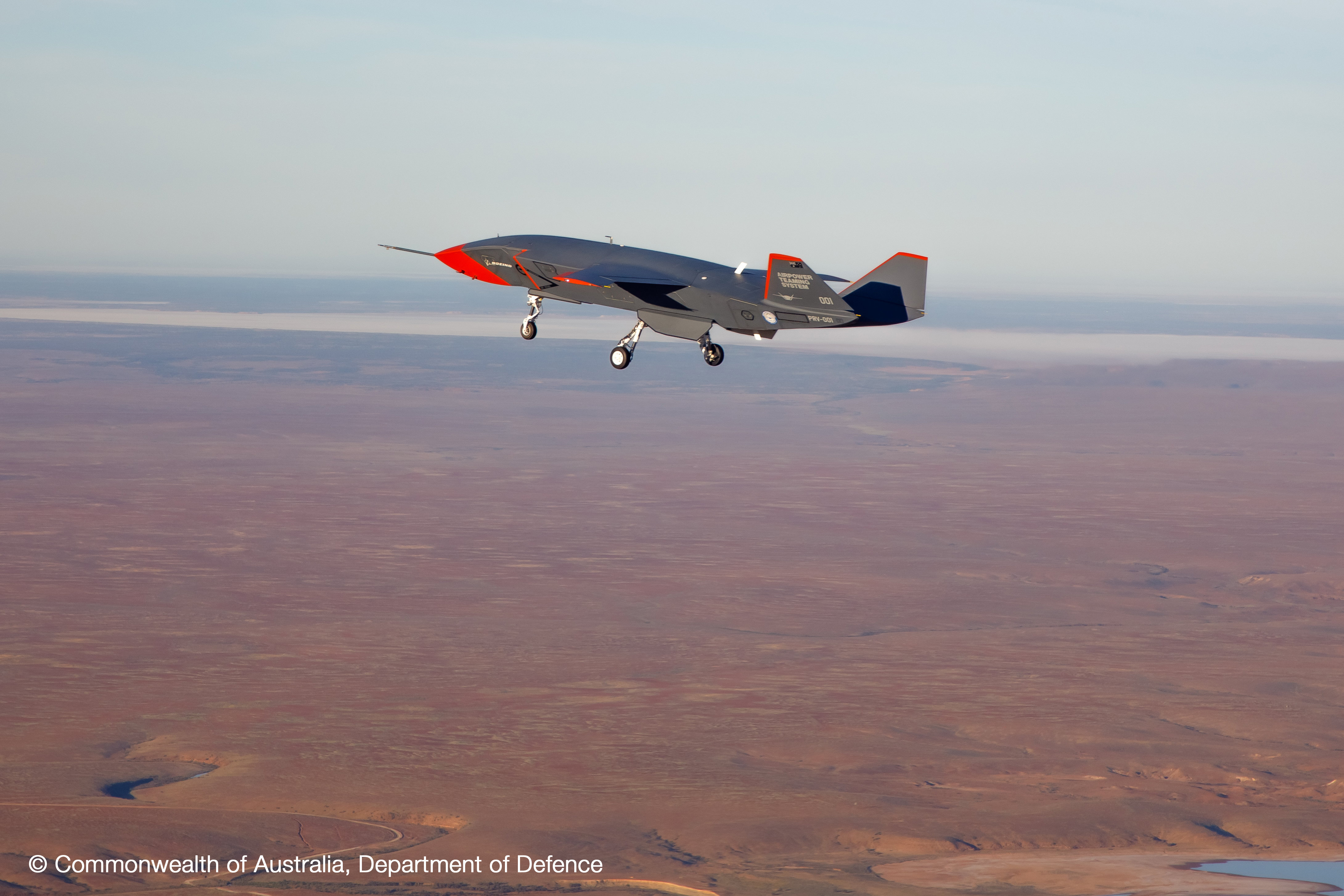Boeing's Airpower Teaming System conducts its maiden flight on March 1, 2021 over Australia. (Royal Australian Air Force)