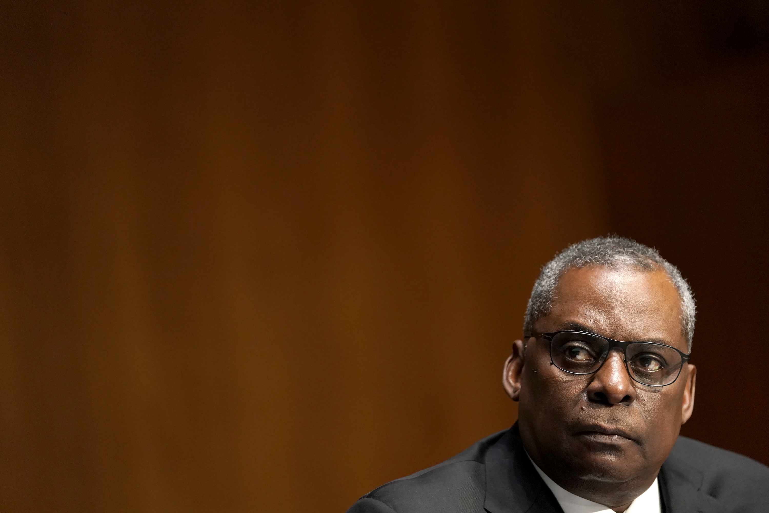 Retired Army Gen. Lloyd Austin, President Joe Biden's pick to be Defense Secretary, testifies at his confirmation hearing before the Senate Armed Services Committee on Jan. 19, 2021, in Washington. (Greg Nash-Pool/Getty Images)