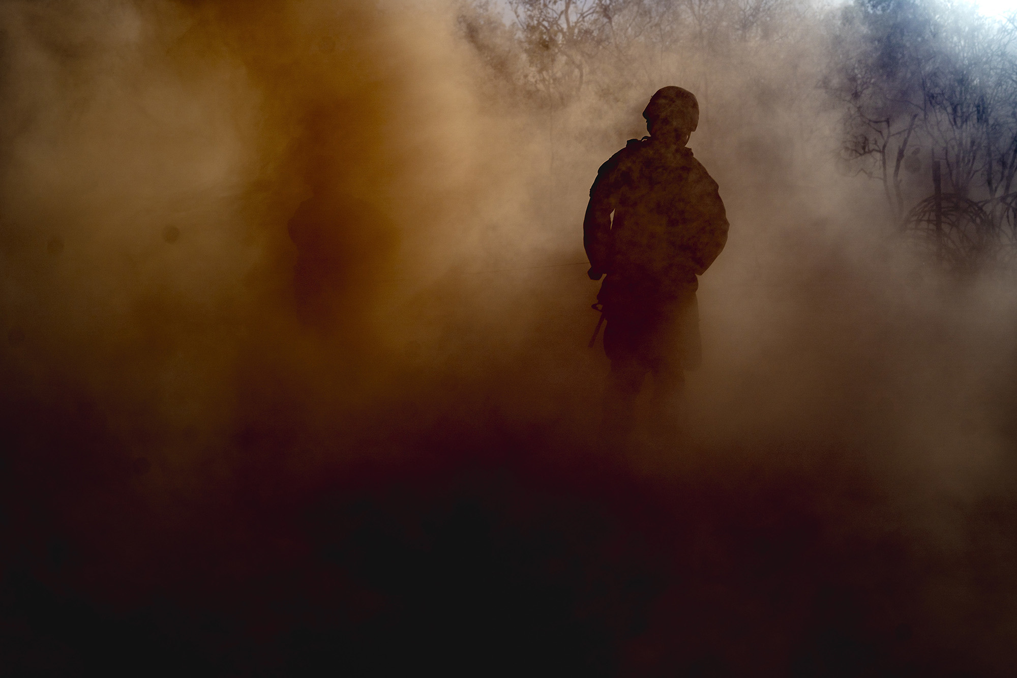 U.S. Marines with Ground Combat Element, Marine Rotational Force Darwin, conduct offensive and defensive operations during Exercise Koolendong at Mount Bundey Training Area, Northern Territory, Australia, Sept. 5, 2020. (Cpl. Lydia Gordon/Marine Corps)