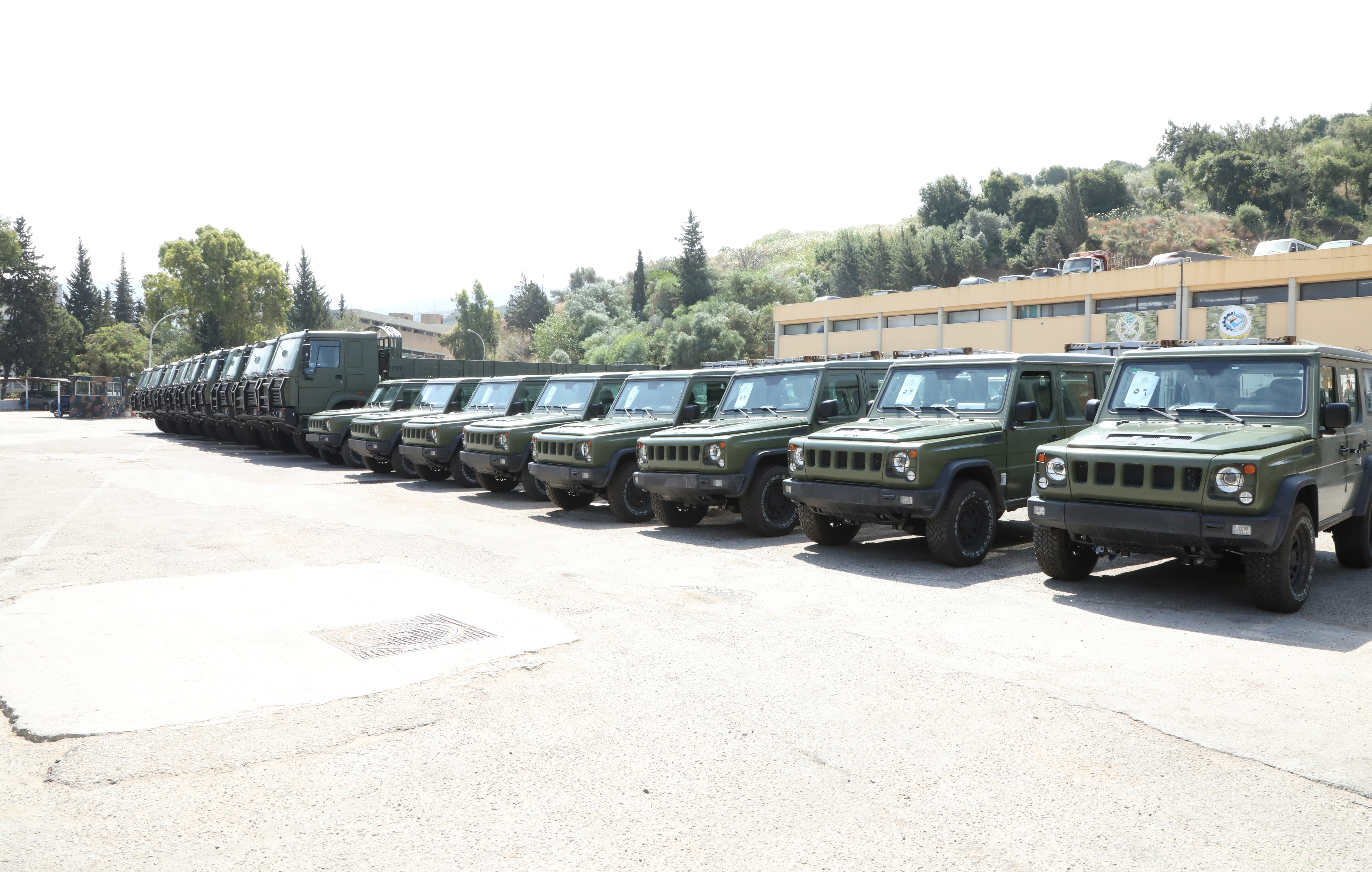 China delivered 100 vehicles to Lebanon in June 2021 as part of military aid. (Lebanese Army)