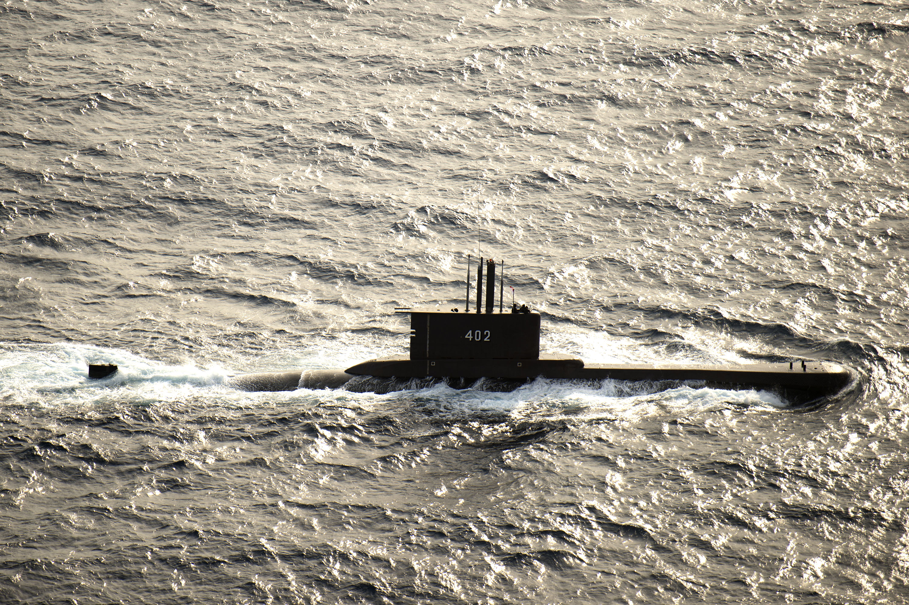 The Indonesian submarine KRI Nanggala, pictured in 2015, went missing near the resort Island of Bali on April 21, 2021. (U.S. Navy photo by Mass Communication Specialist 3rd Class Alonzo M. Archer)