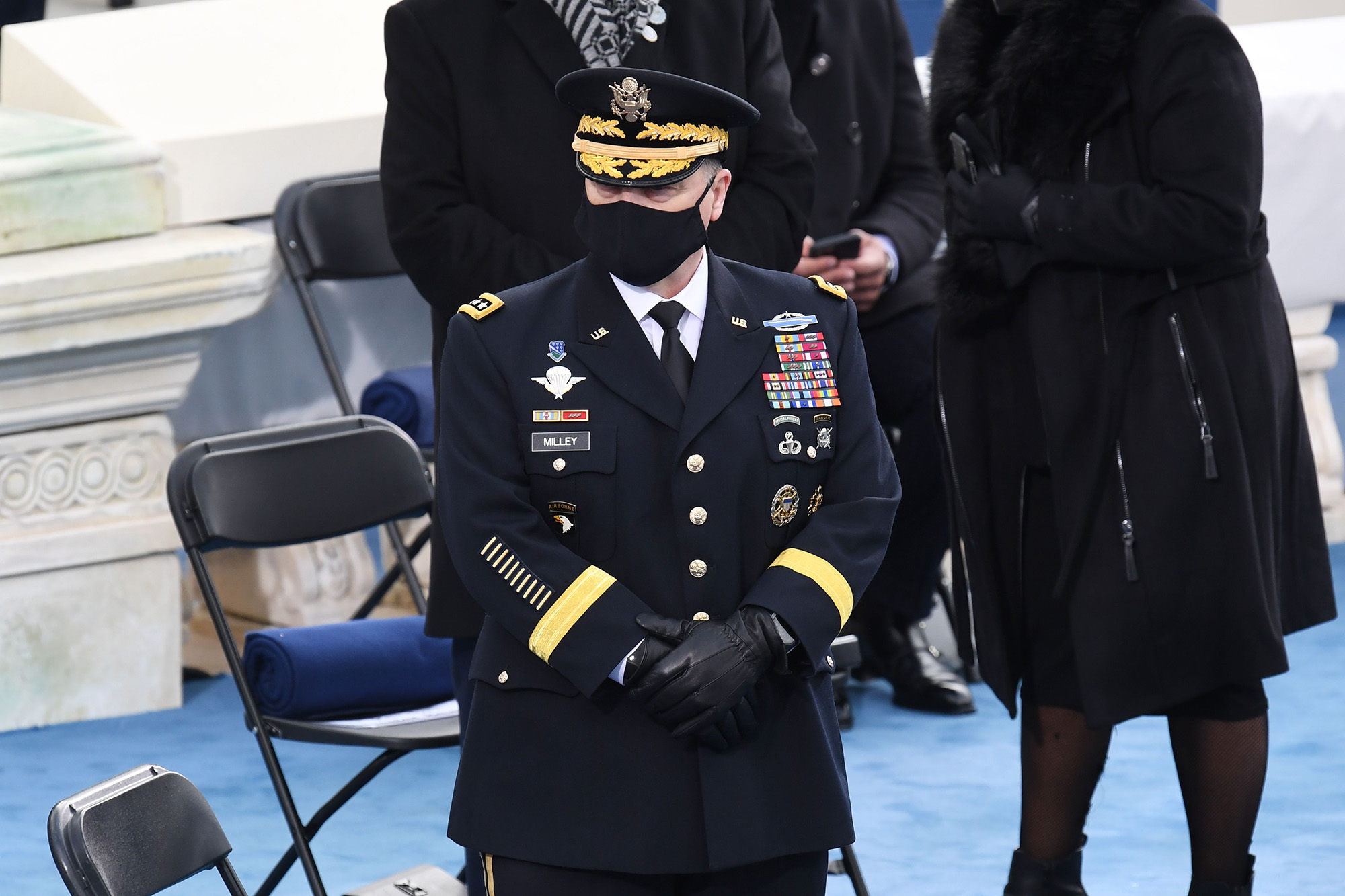 Chairman of the Joint Chiefs of Staff Gen. Mark Milley arrives for the inauguration of Joe Biden as the 46th president on Jan. 20, 2021, at the Capitol in Washington. (Olivier Douliery/AFP via Getty Images)