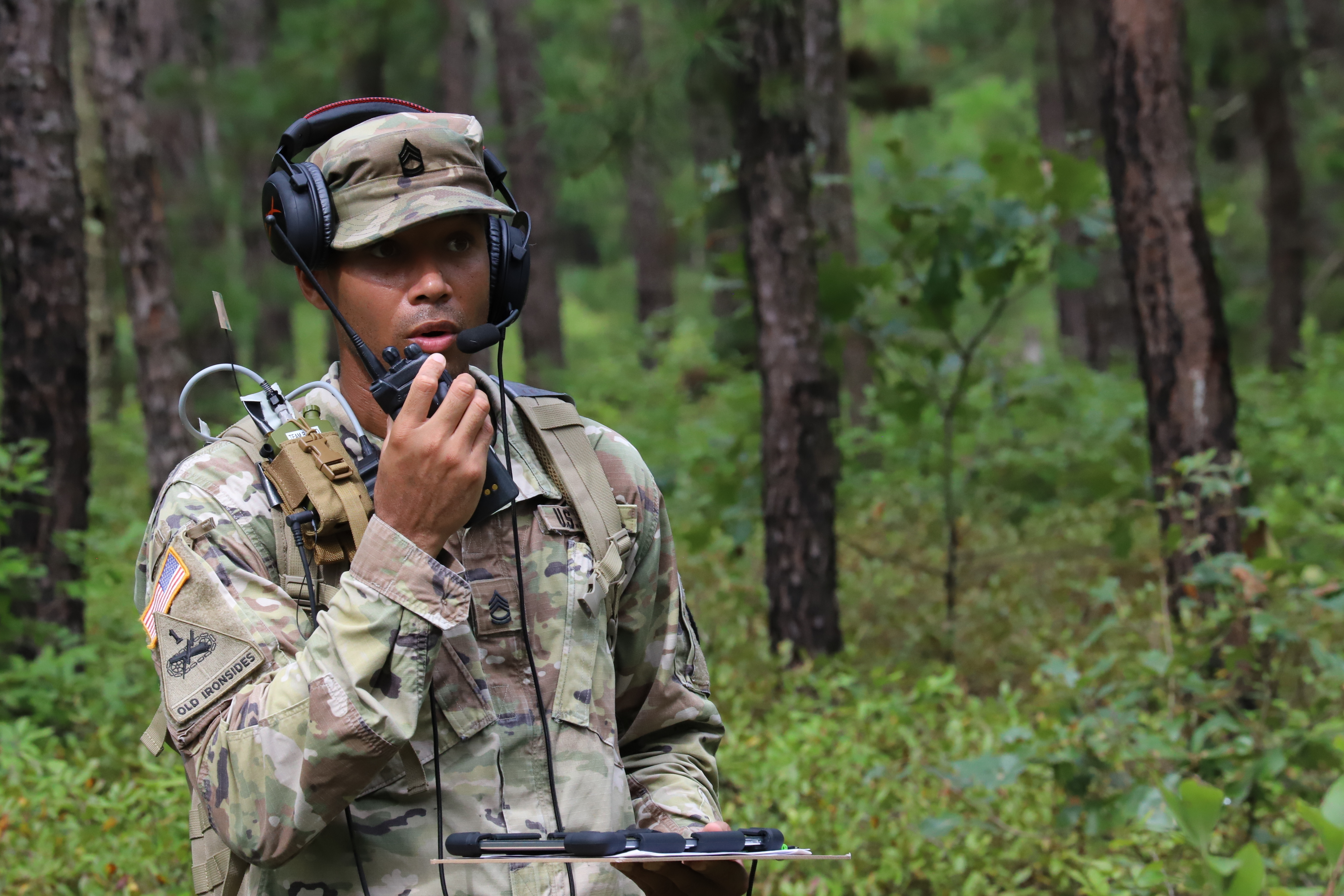 The latest Network Modernization Experiment took place at Joint Base McGuire-Dix-Lakehurst, N.J., which served as the command post, while Aberdeen Proving Ground, Maryland, served as the division headquarters. (Jasmyne Douglas/U.S. Army)