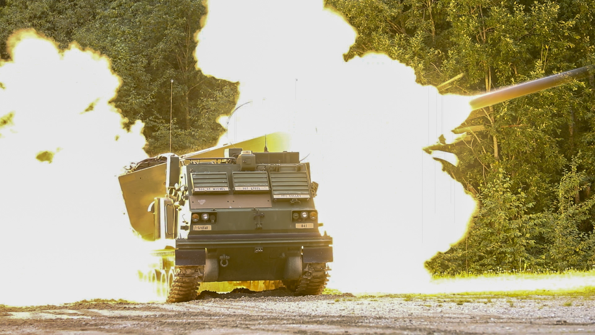 A U.S. Army Multiple Launch Rocket System fires a rocket during a live fire exercise with Estonian defense forces in Tapa, Estonia, Sept. 5, 2020. (Spc. Ryan Barnes/Army)