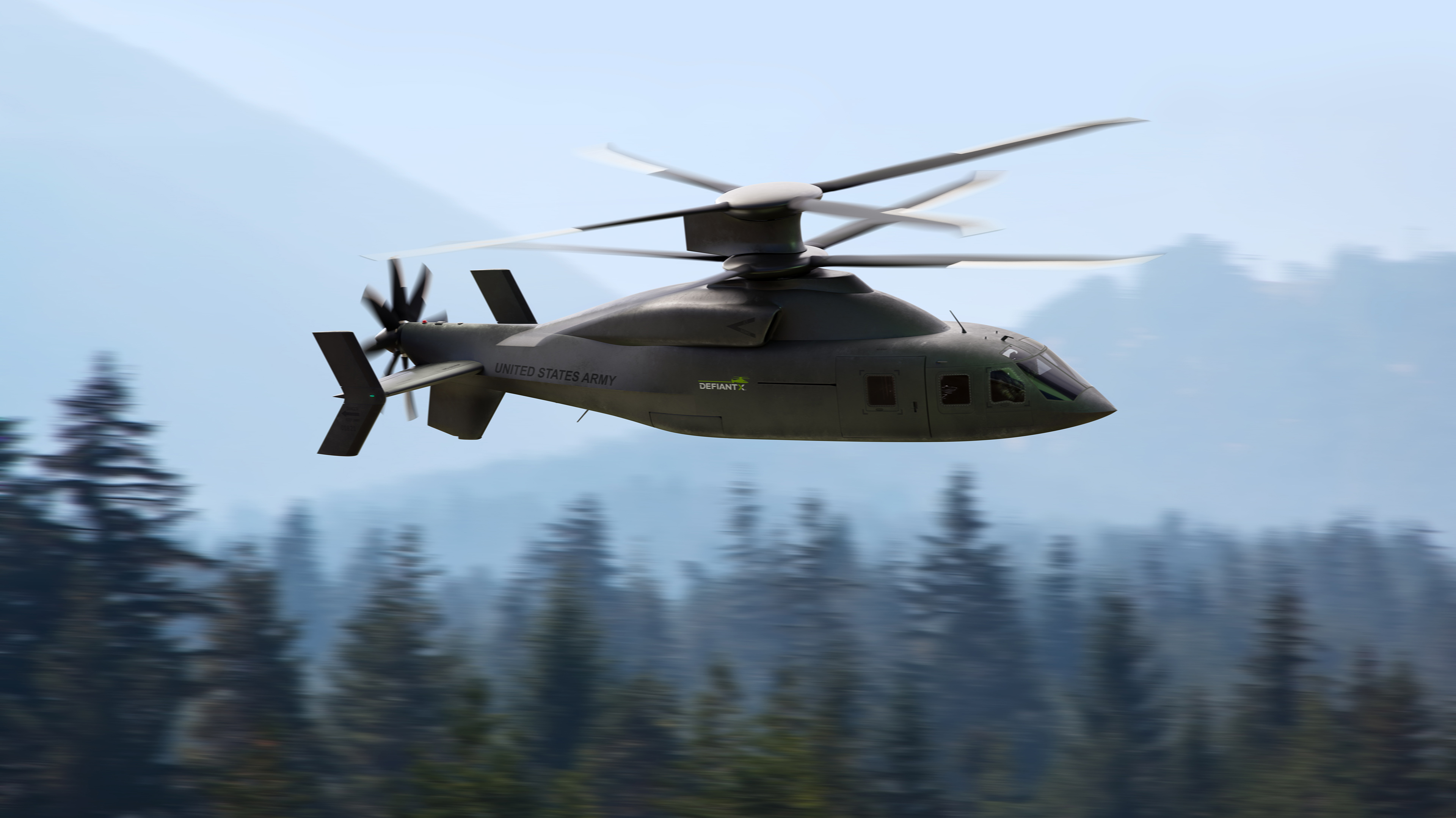 Lockheed Martin and Boeing unveiled its offering to the U.S. Army's Future Long-Range Assault Aircraft competition Jan. 25, 2021 -- calling it Defiant X. (Artistic rendering courtesy of Lockheed Martin and Boeing)