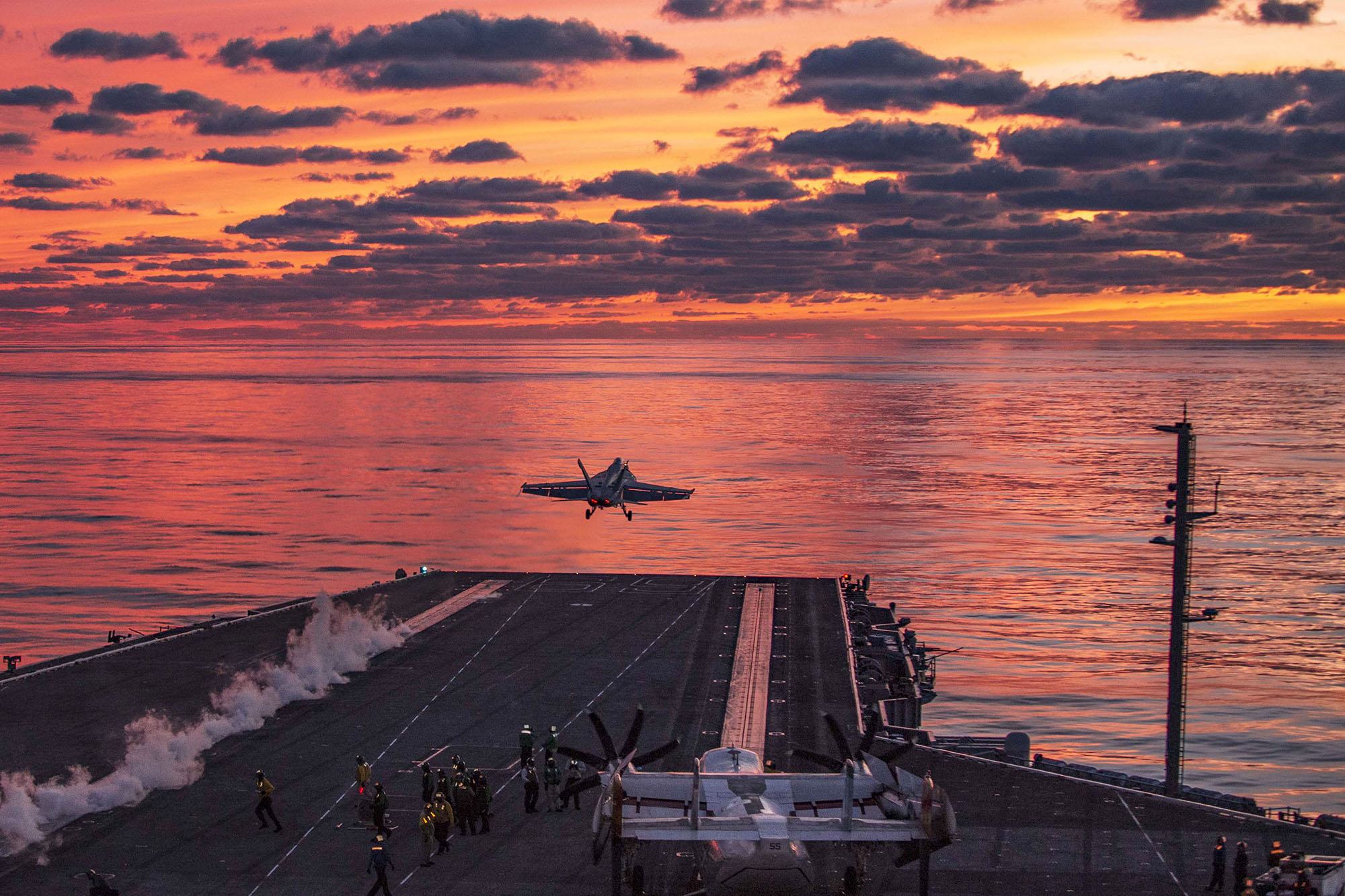 An F/A-18E Super Hornet launches from the flight deck aboard the Nimitz-class aircraft carrier USS Dwight D. Eisenhower (CVN 69) on Oct. 1, 2020, in the Atlantic Ocean. (MC3 Cameron Pinske/Navy)