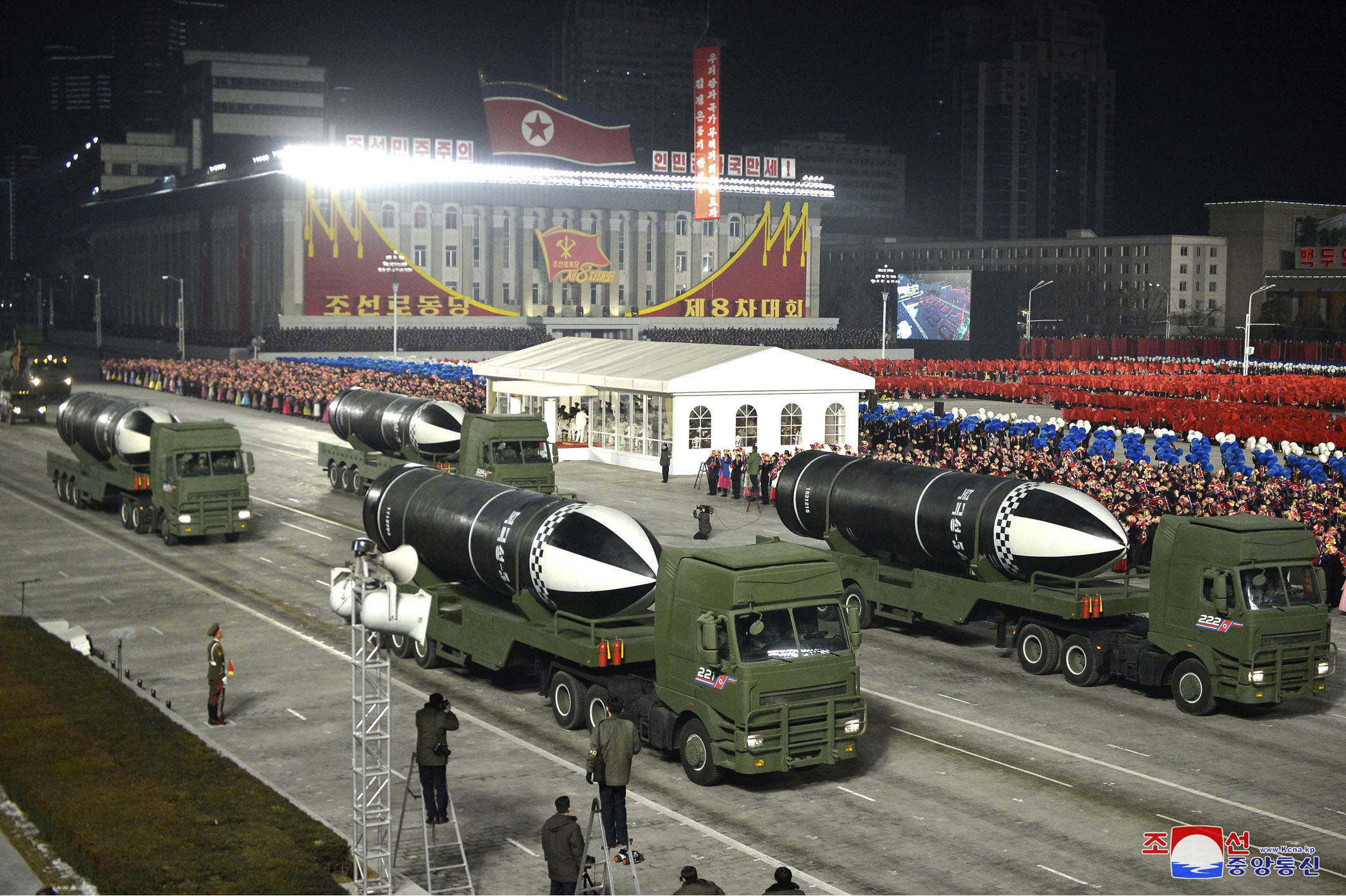 North Korea demonstrates new missile in military parade