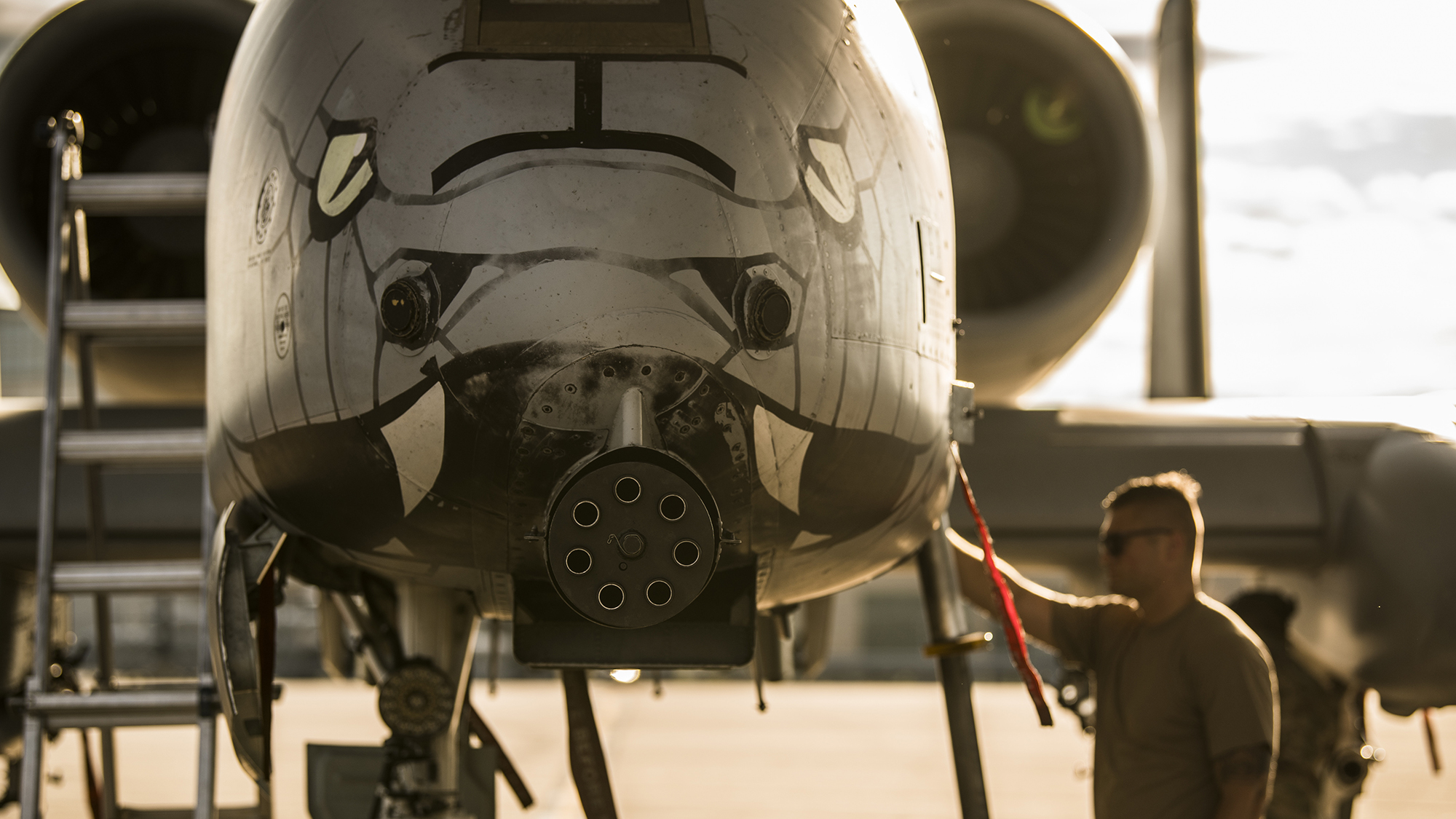 Sgt. Austin Radke, an aircraft maintenance crew chief assigned to the 122nd Fighter Wing, Indiana Air National Guard, performs a preflight inspection on an A-10C Thunderbolt II aircraft June 24, 2020, at the 122nd Fighter Wing in Fort Wayne, Ind. (Tech. Sgt. William Hopper/Air National Guard)