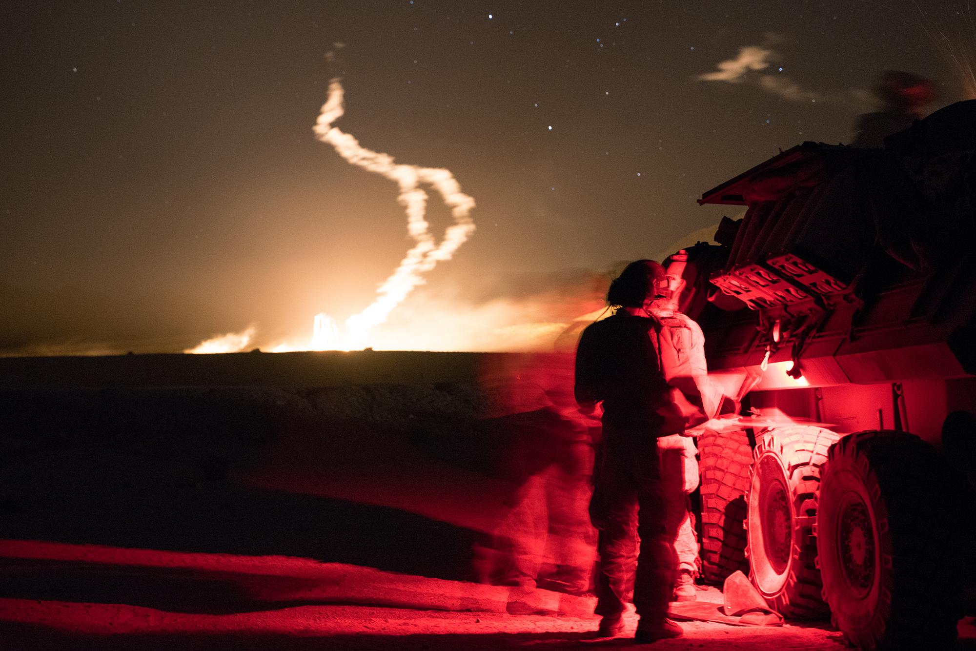 Marines debrief their result during Steel Knight 21, Dec. 4, 2020, at Camp Pendleton, Calif. (Lance Cpl. Gustavo Romero/Marine Corps)