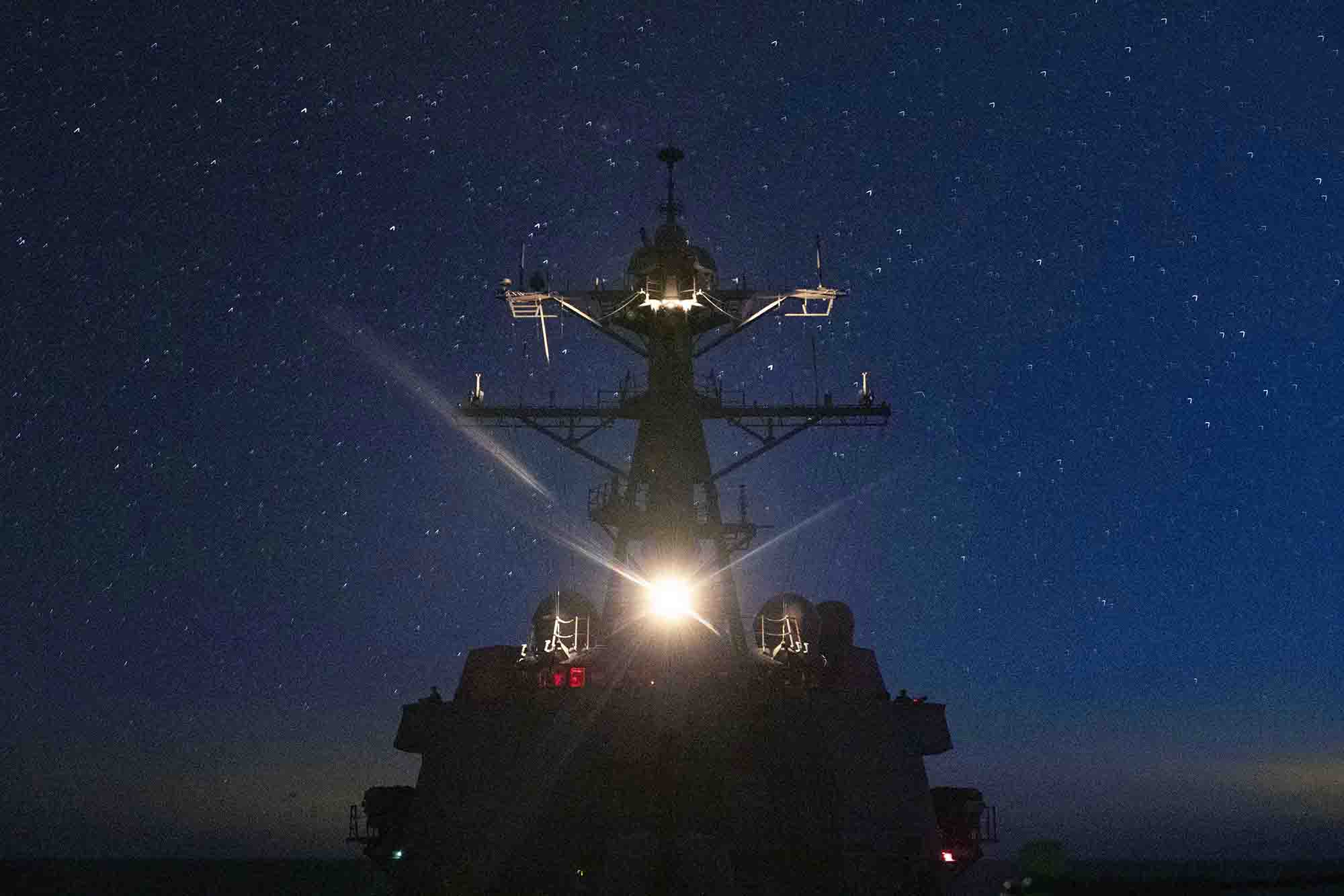 The Arleigh Burke-class guided missile destroyer USS Lassen (DDG 82) steams in the Atlantic Ocean, June 9, 2021. (MC3 Zachary Melvin/Navy)