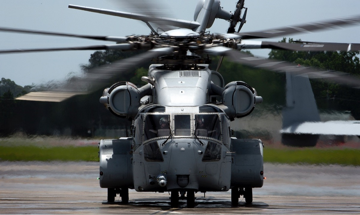The Corps took delivery of its first CH-53 King Stallion on May 16, 2018, at the New River Air Station in Jacksonville, North Carolina. (Marine Corps)