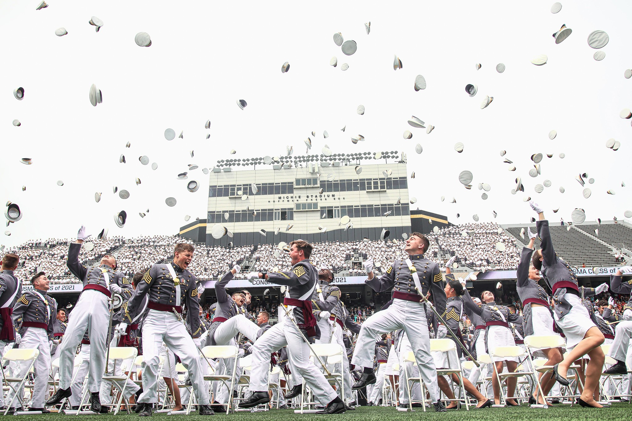 The U.S. Military Academy at West Point held its graduation and commissioning ceremony for the Class of 2021 at Michie Stadium in West Point, N.Y., May 22, 2021. This year, 995 cadets graduated. (Cadet Hannah Lamb/Army)