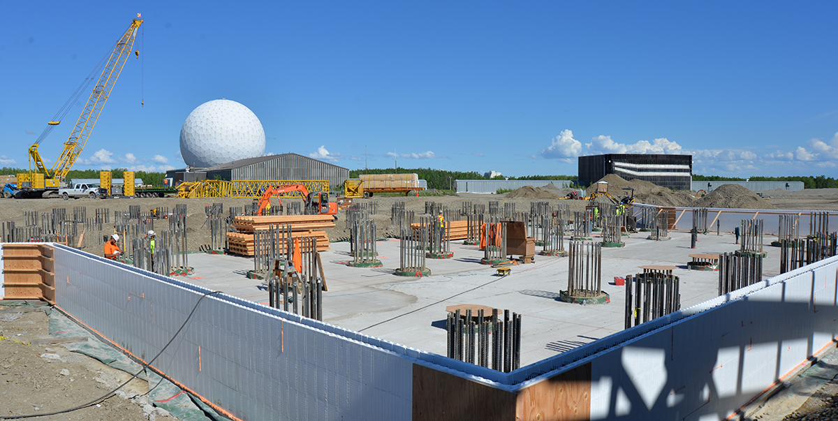 Clear Air Force Station's $347 million Long Range Discrimination Radar complex is seen June 6, 2018. (John Budnik/U.S. Army)