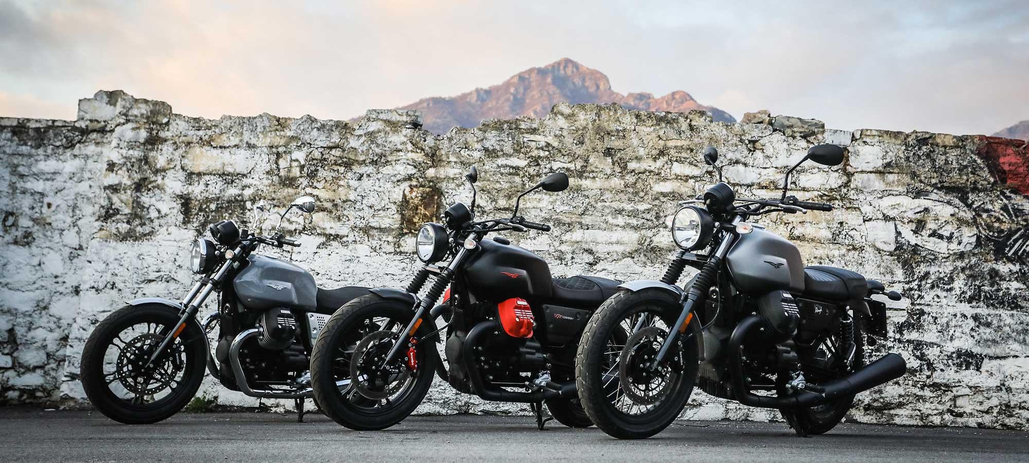 2018 Moto Guzzi V7 IIIs And MGX-21