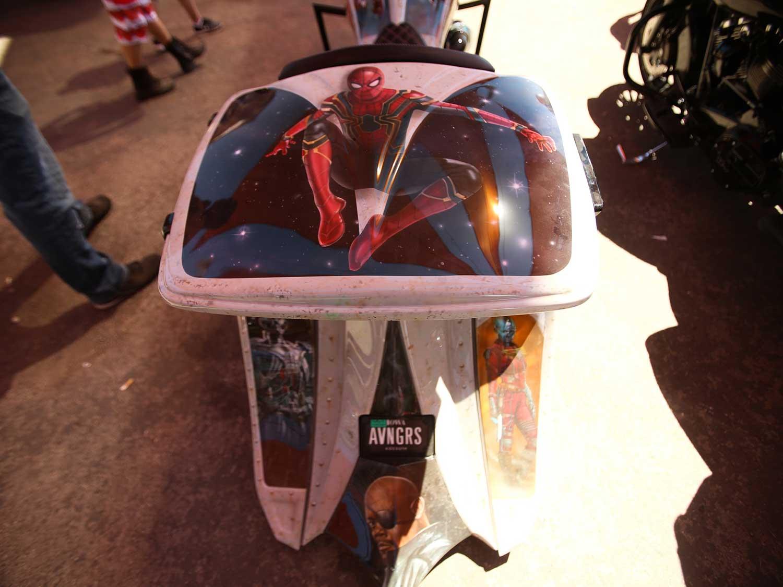This bagger has an Avengers paint jobat Sturgis 2020
