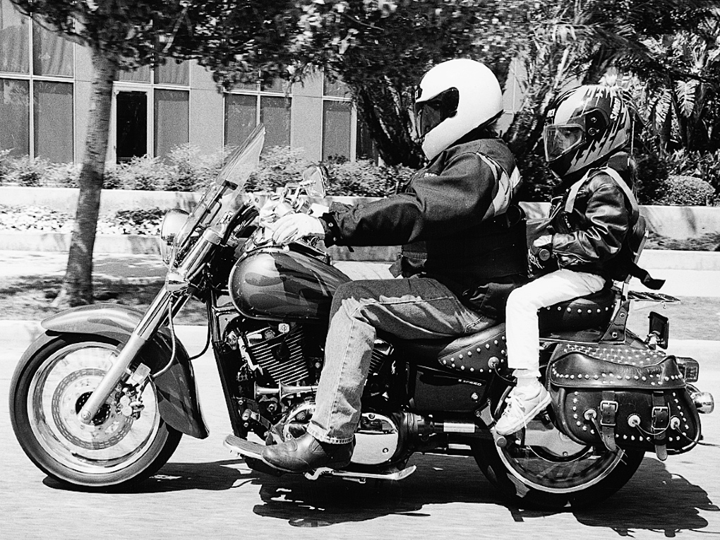 Riding Two Up With A Kid Motorcycle Cruiser