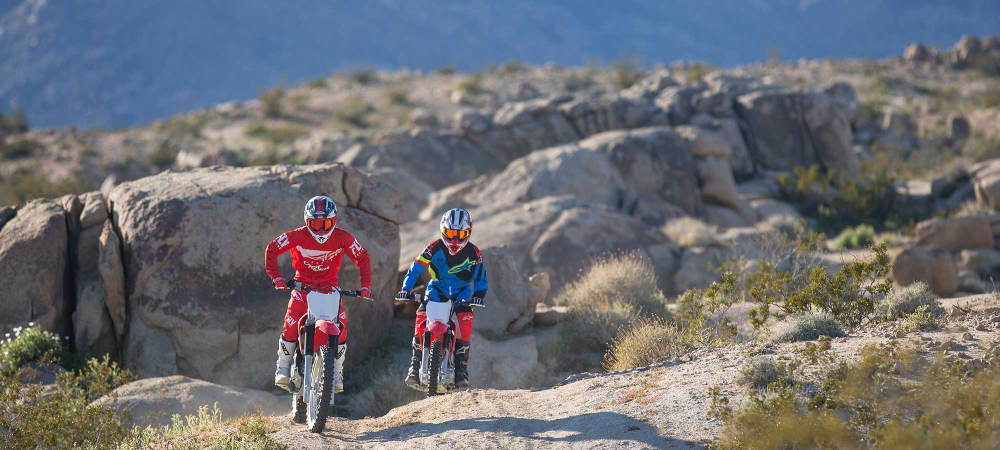 Evan Allen and Jake Allen ride the 2019 Honda CRF125F and CRF250F.