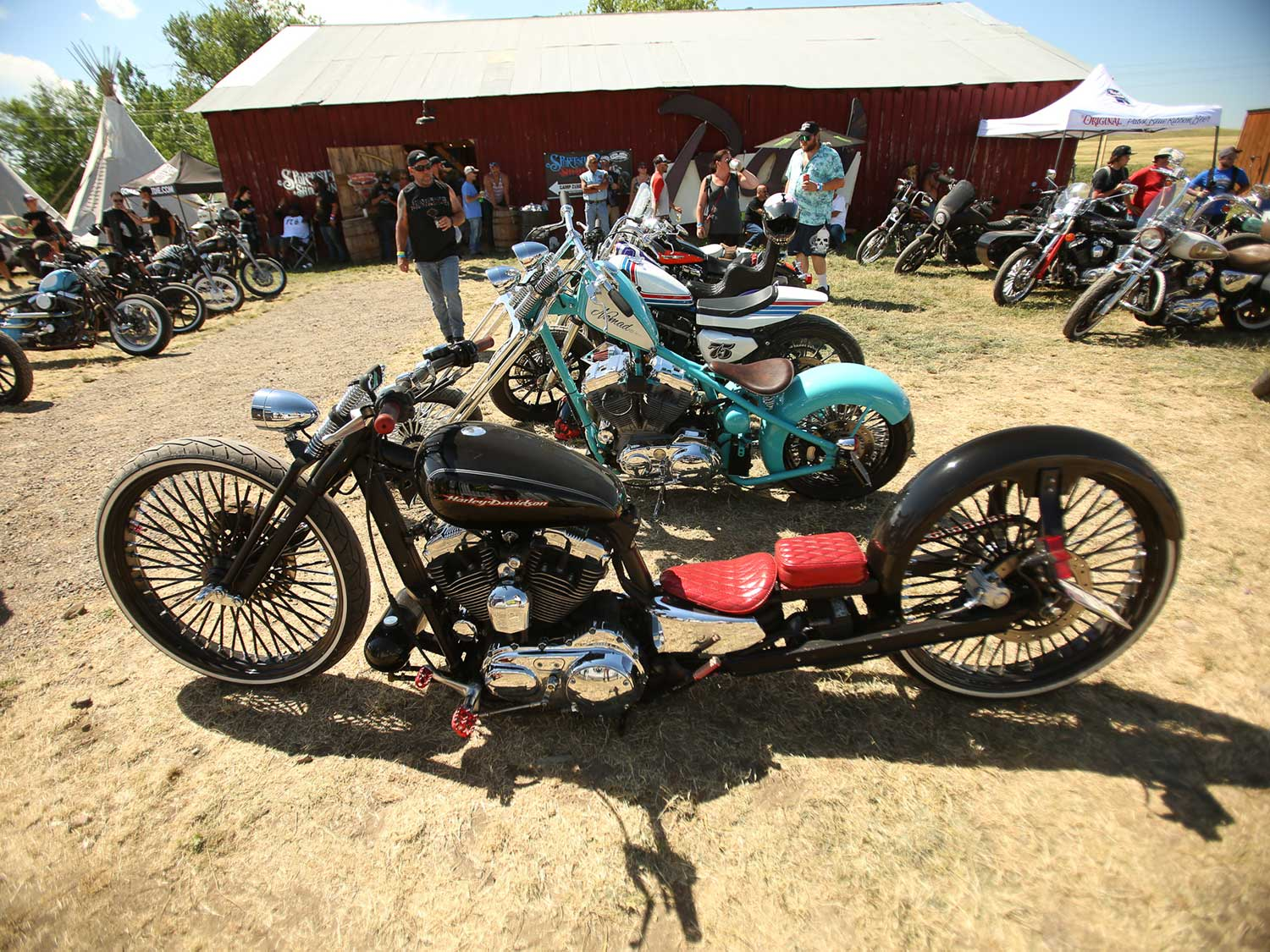 variety of custom v-twins at Sturgis 2020