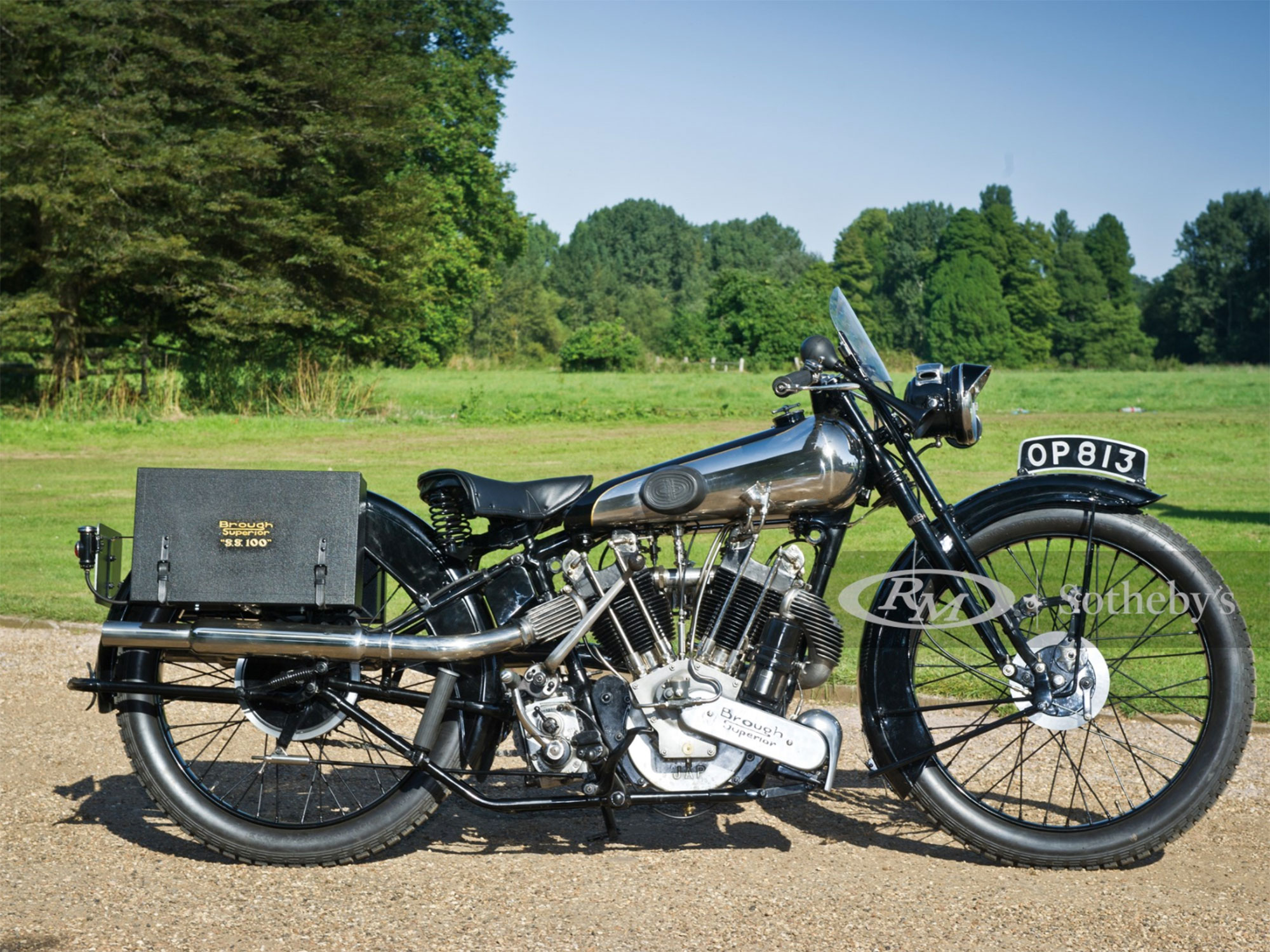 The British-made Brough Superior was known as the Rolls-Royce of motorcycles.