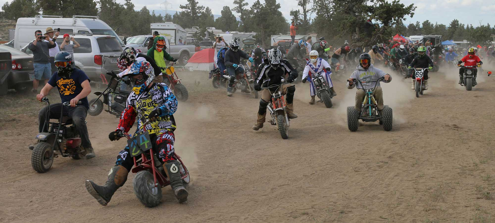 The High Desert At The Oregon Gambler Mini Bike Enduro
