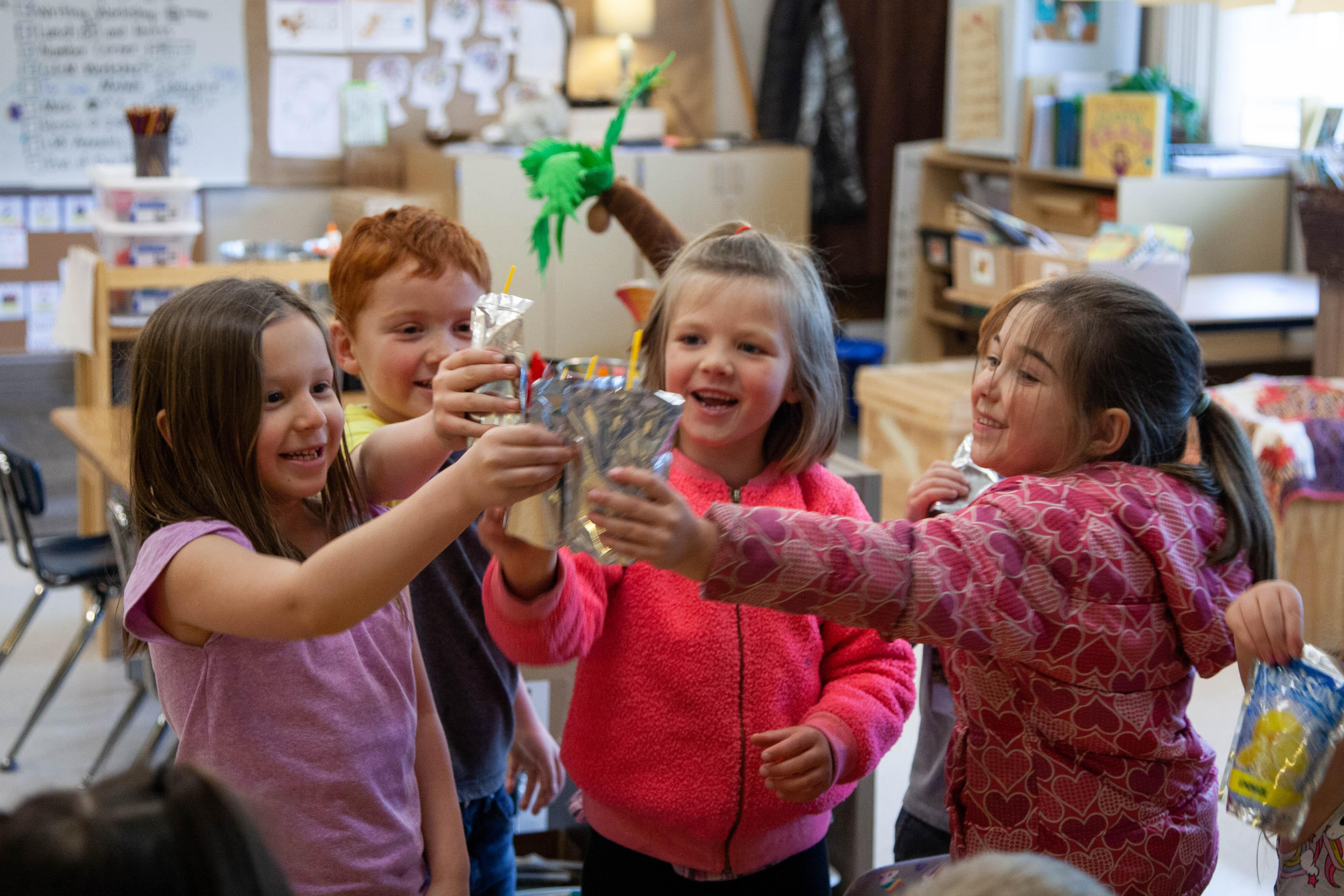 When kindergarteners at Lava Ridge Elementary in Bend make enough mistakes, the students celebrate with lemonade.