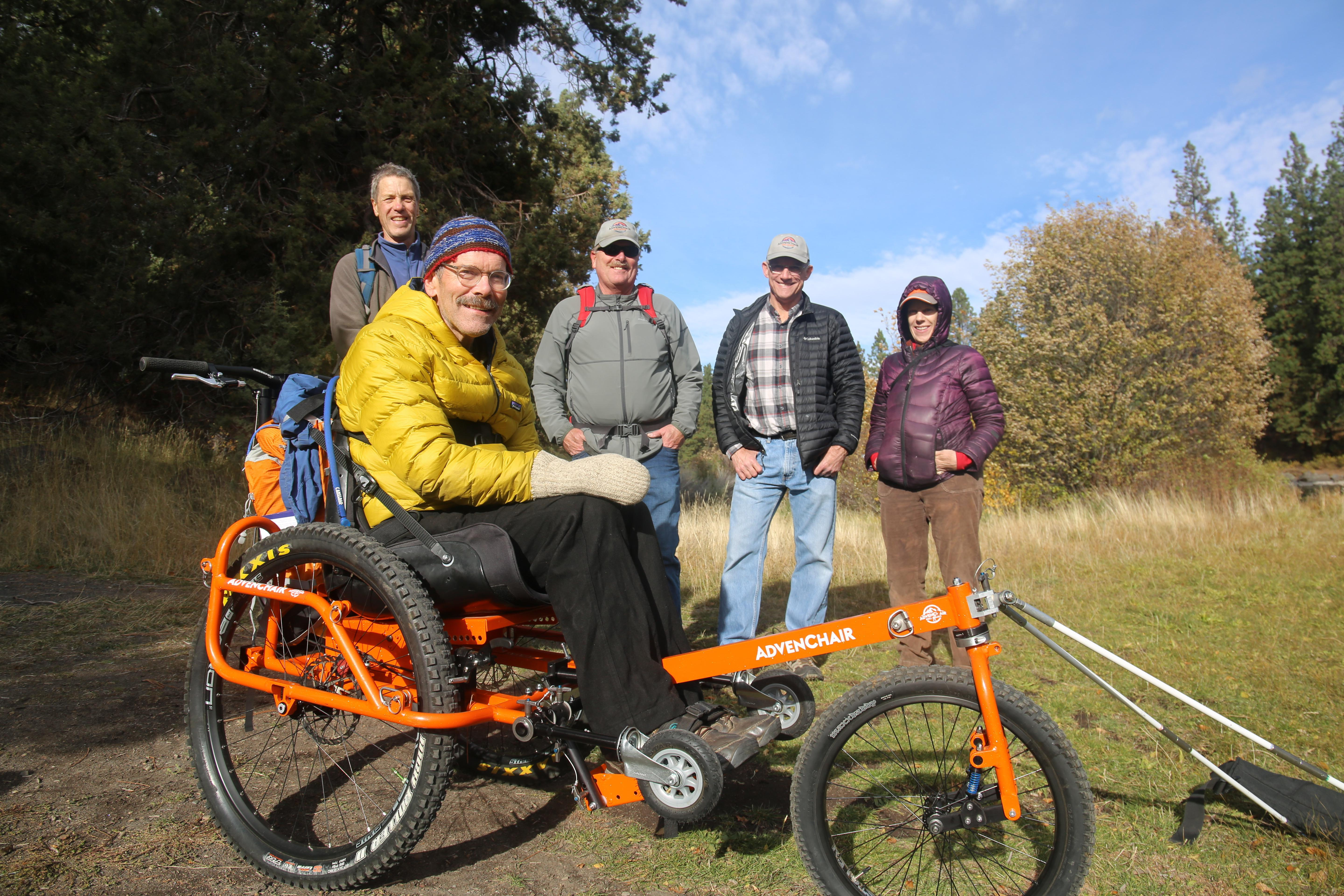 Geoff Babb, front, poses with his team for a Sunday afternoon on the Deschutes river, from left to right: David Green, Jack Arnold, Brian Tandy and Amy Kazmier.