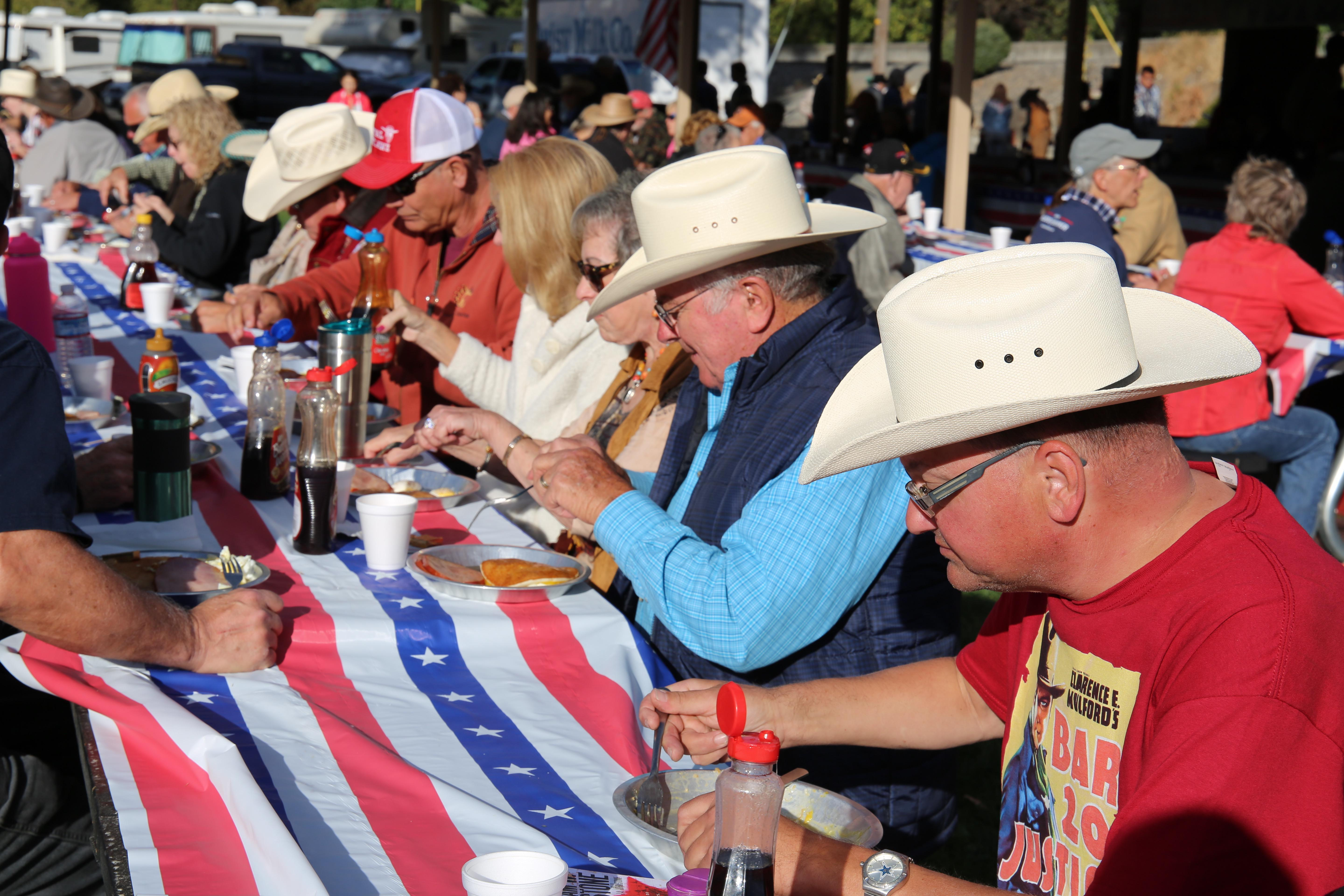 At the Pendleton VFW's annual Cowboy Breakfast about 50 volunteers serve thousands of breakfasts during the Pendleton Roundup.