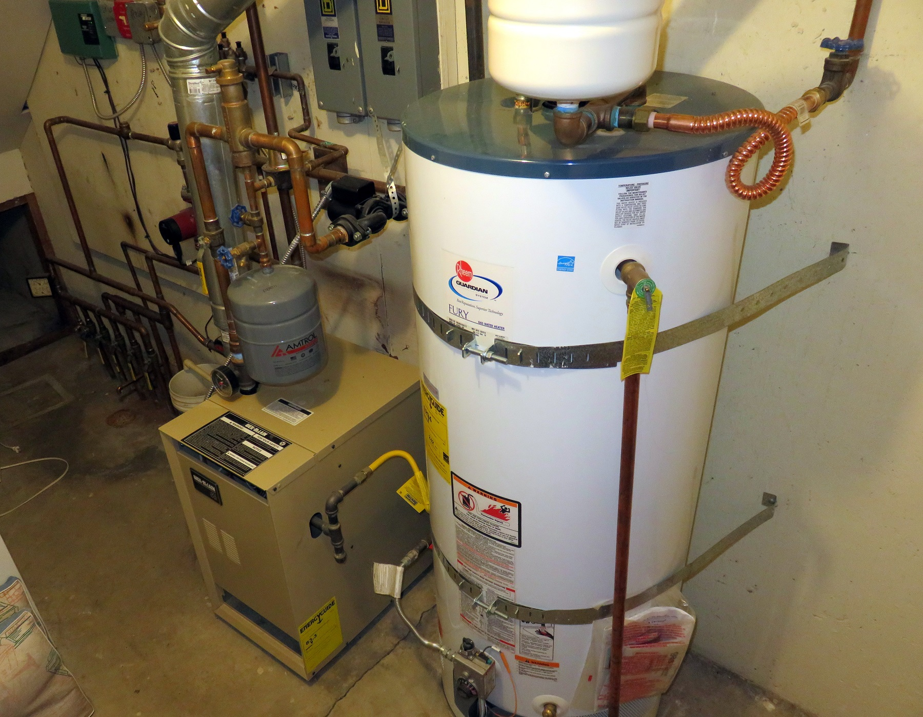 Buildings account for the second biggest share of carbon pollution in Washington, after transportation, largely due to gas furnaces and water heaters such as these.