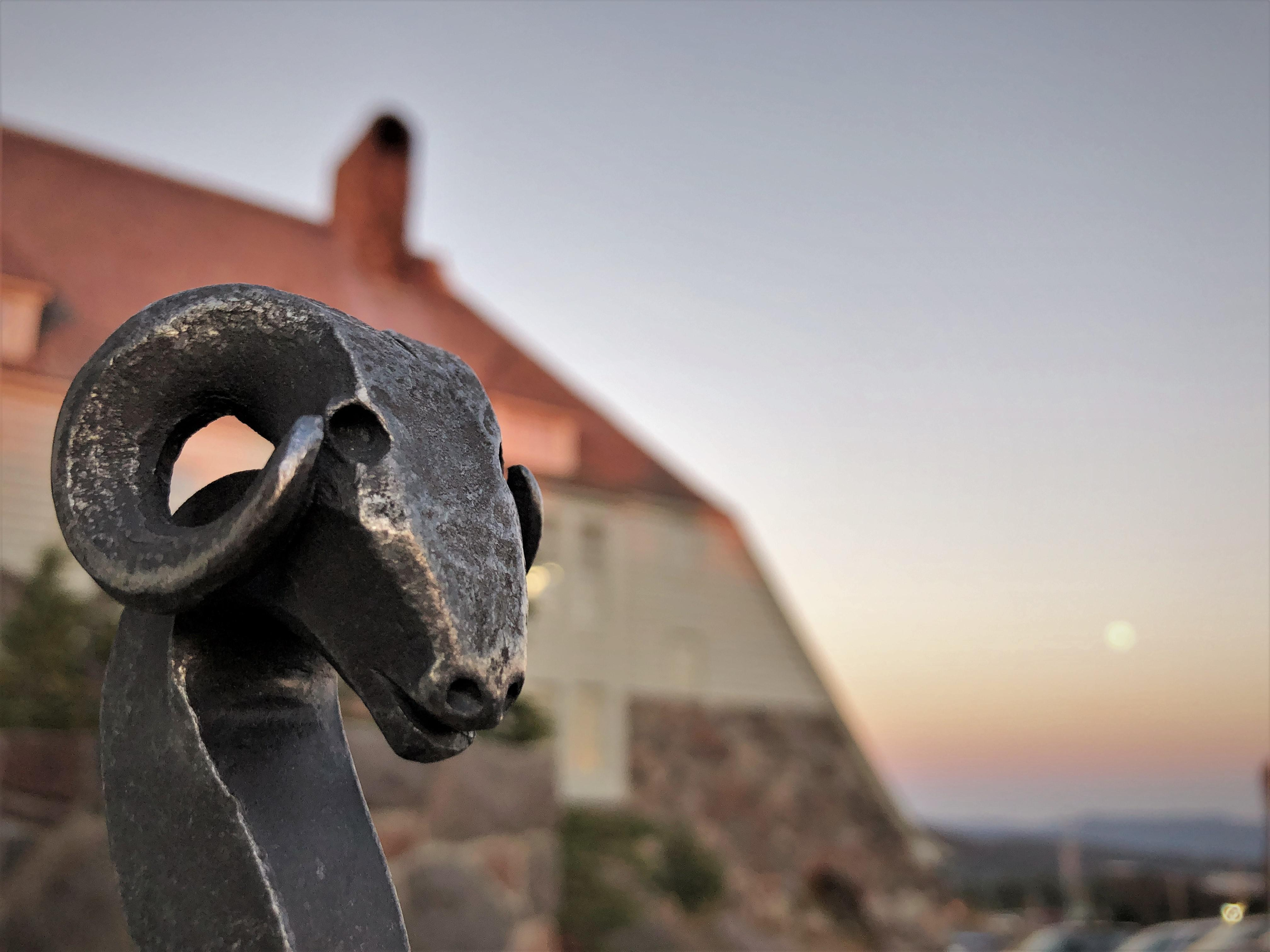 A ramshead hand-forged by Darryl Nelson has become a symbol of Timberline Lodge.