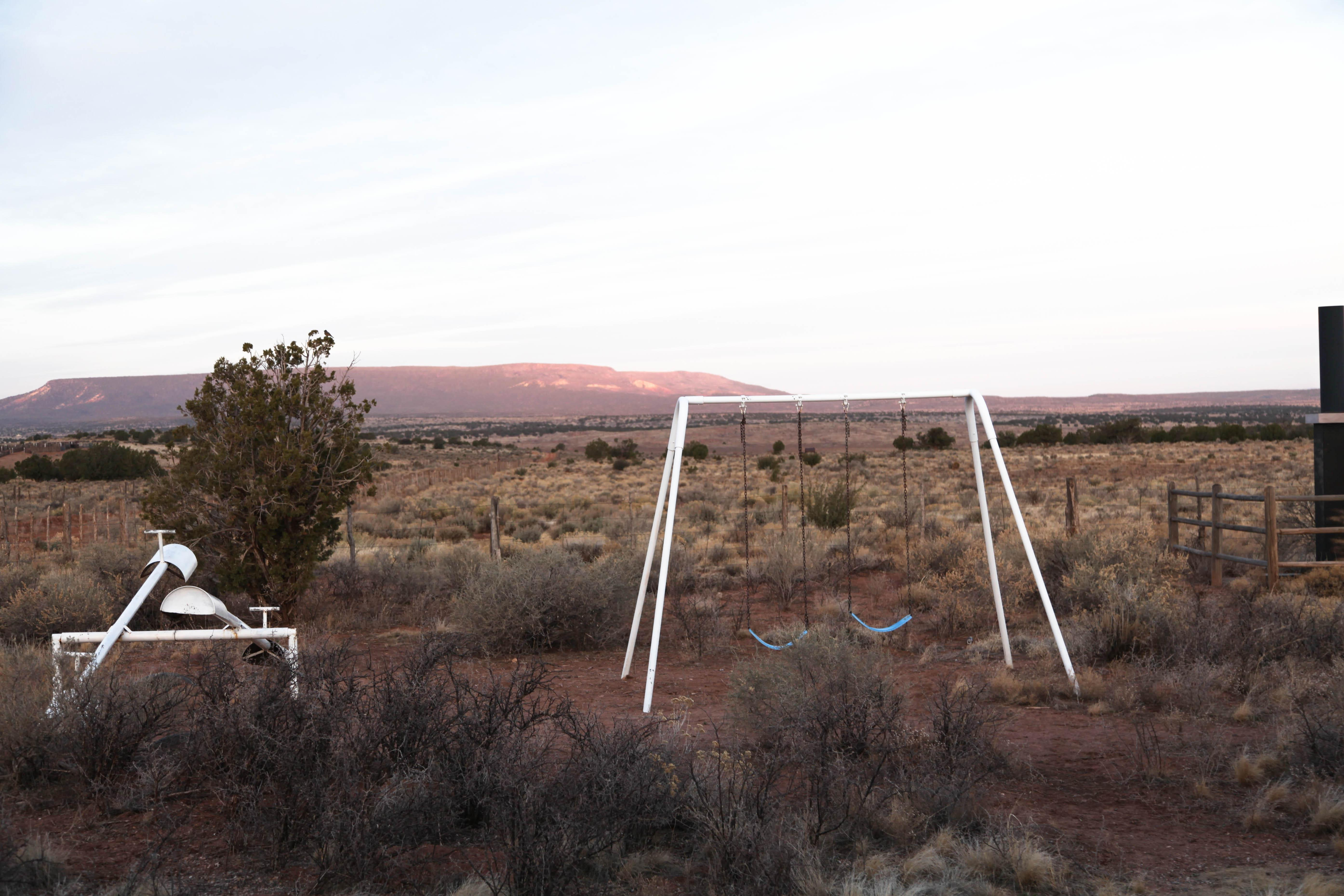 A small playground sits outside the Mount Trumbull schoolhouse. This part of the Arizona Strip is where Cliven Bundy's great grandfather, Abraham Bundy, first settled Bundyville.