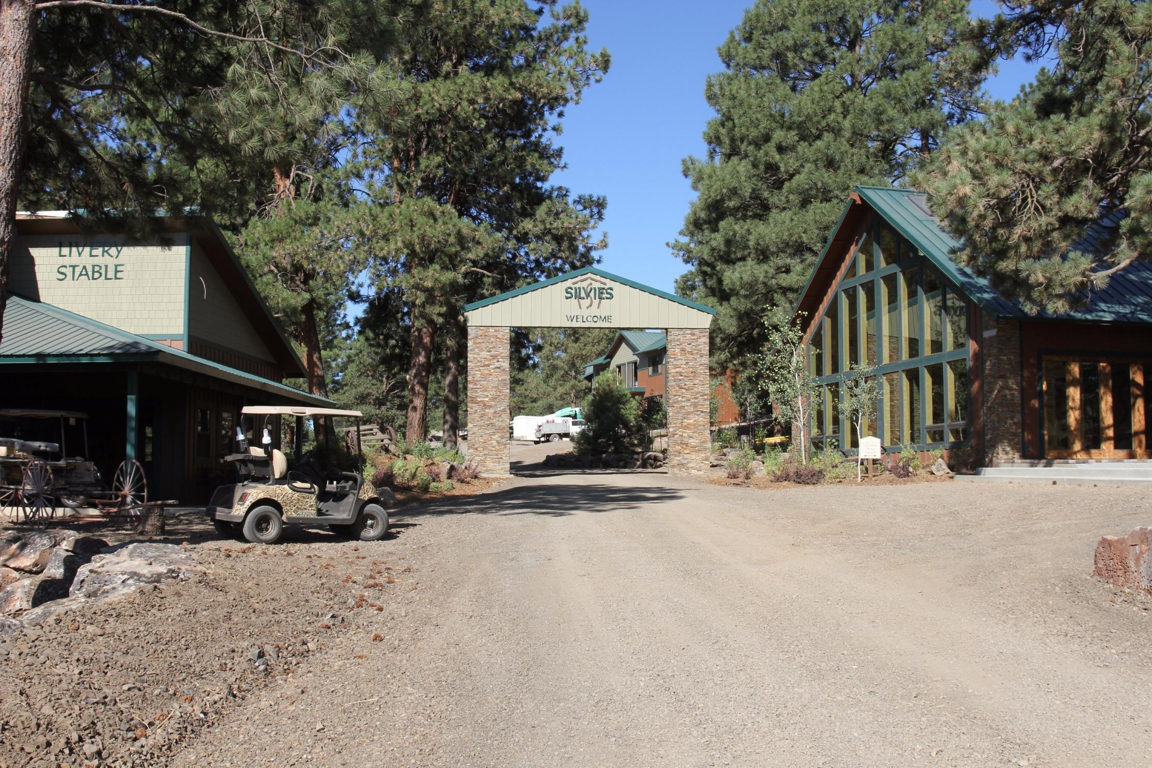 The entrance to Silvies Valley Ranch in eastern Oregon.