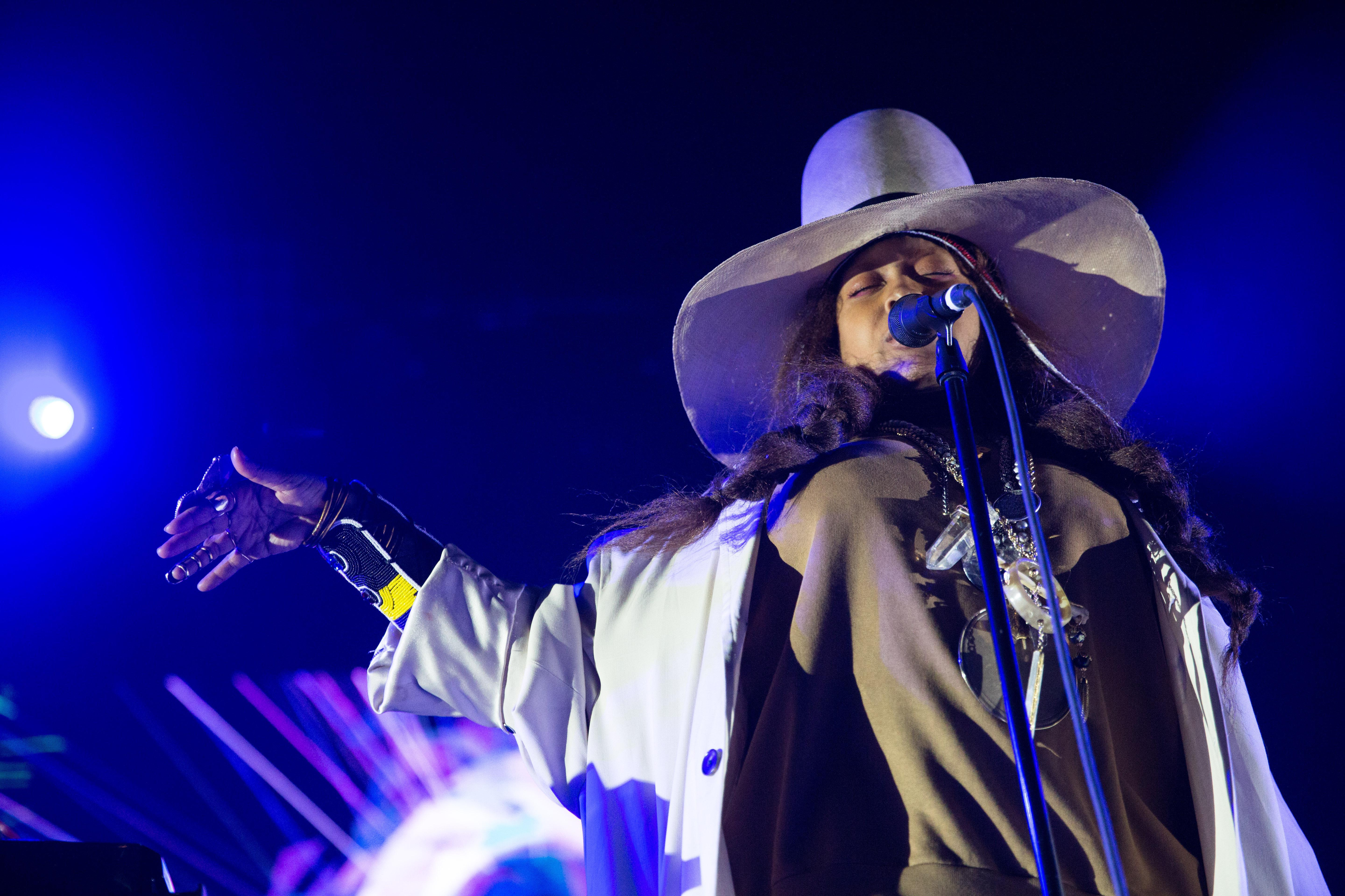 Erykah Bade performs the Soul'd Out Music Festival at Arlene Schnitzer Concert Hall, Wednesday, April 18, 2018.