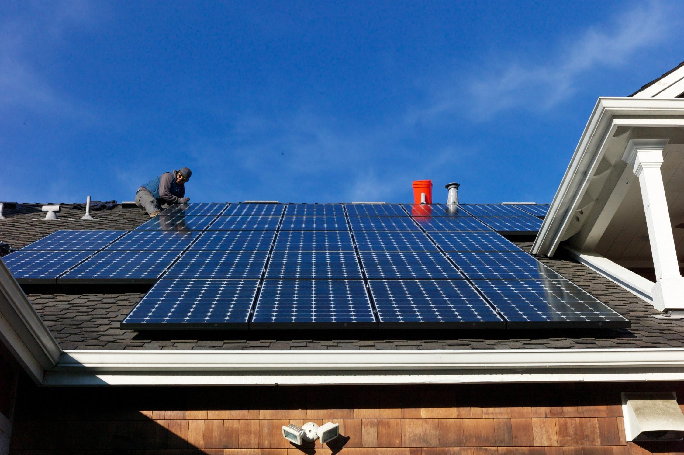 Rooftop solar is a booming industry.