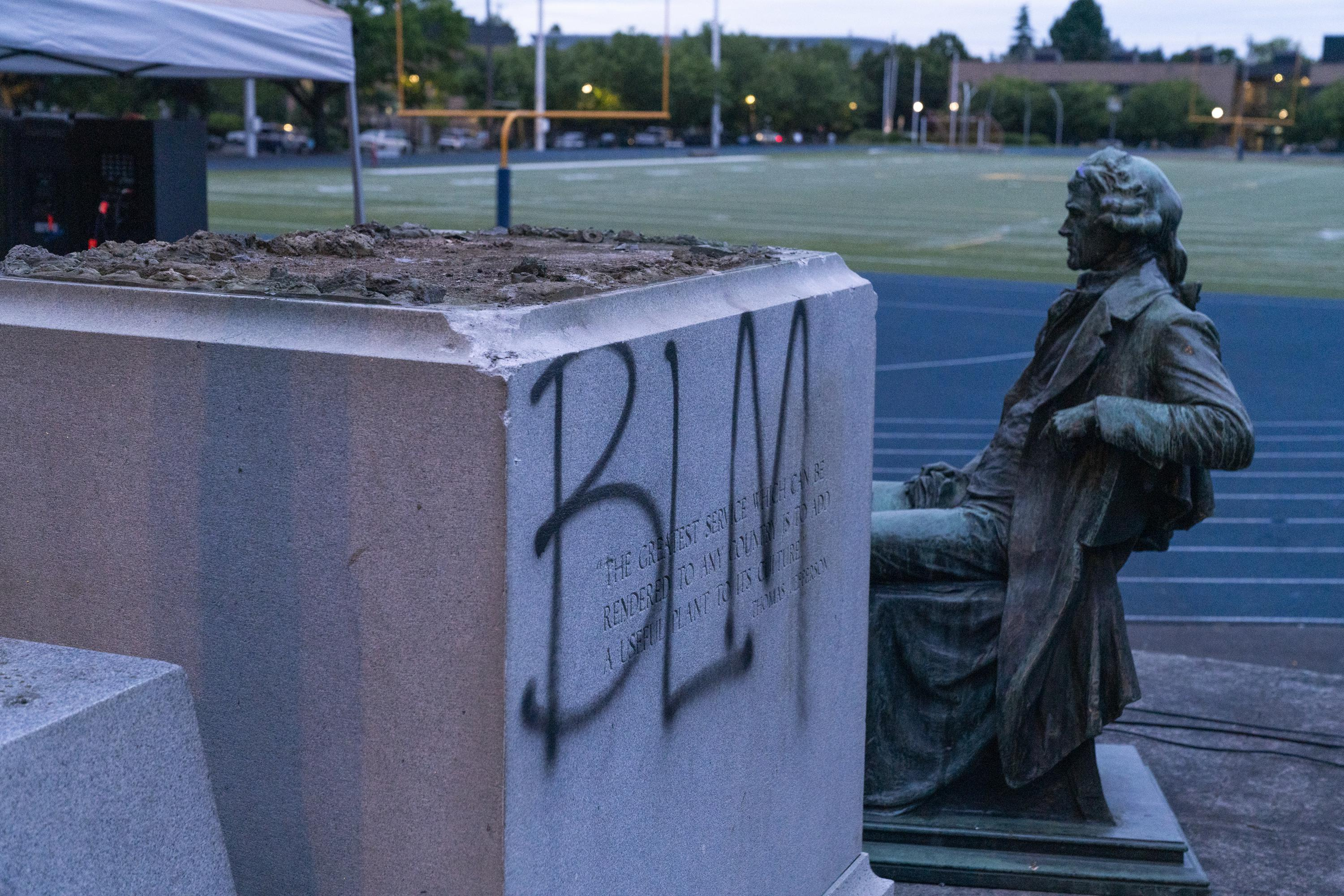 Some Of Portland S Most Prominent Public Art Tumbled This Year Which Ones Should Come Back Opb